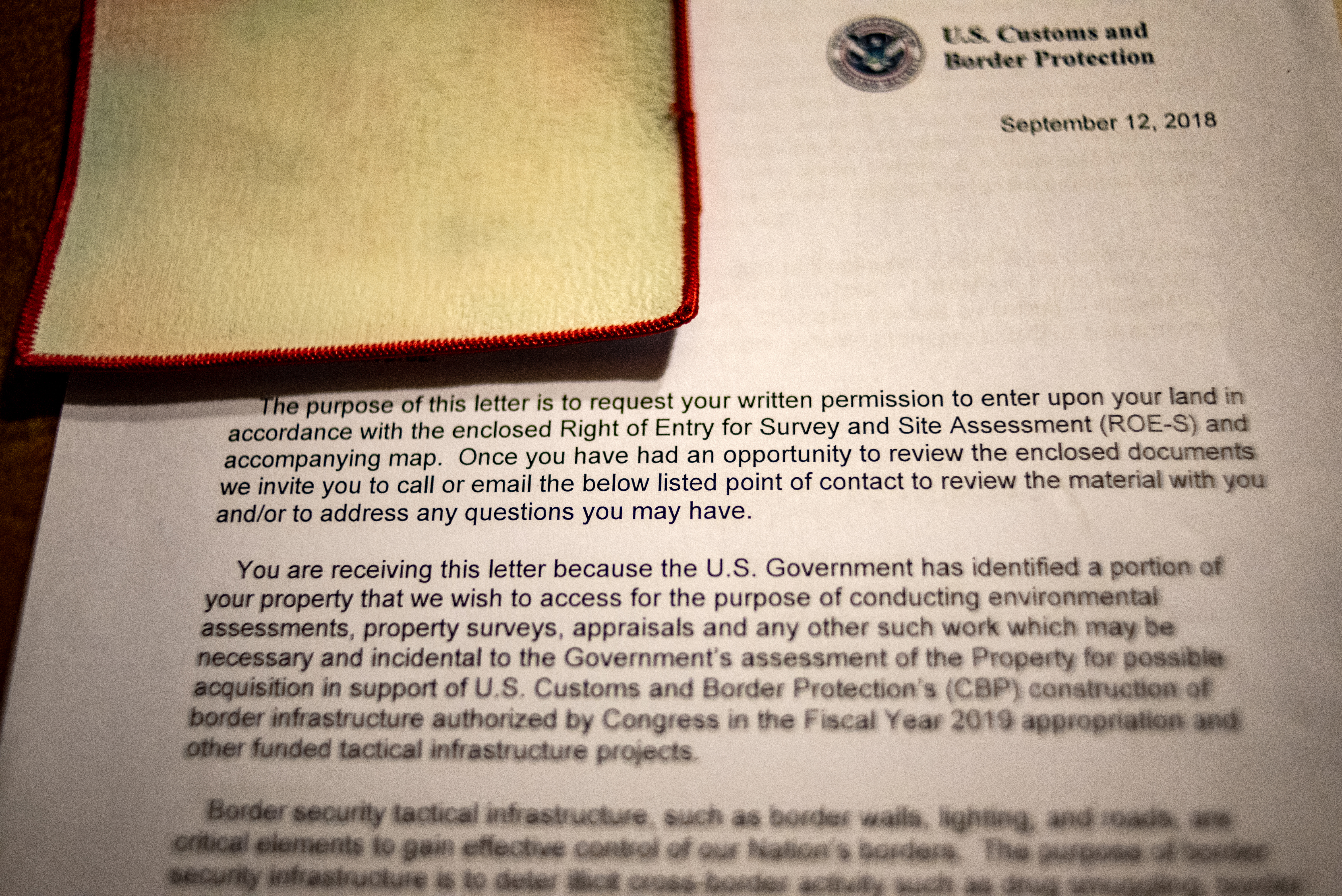 Us Customs Seizure Letter.Trump S Wall Needs Private Property But Some Texans Won T