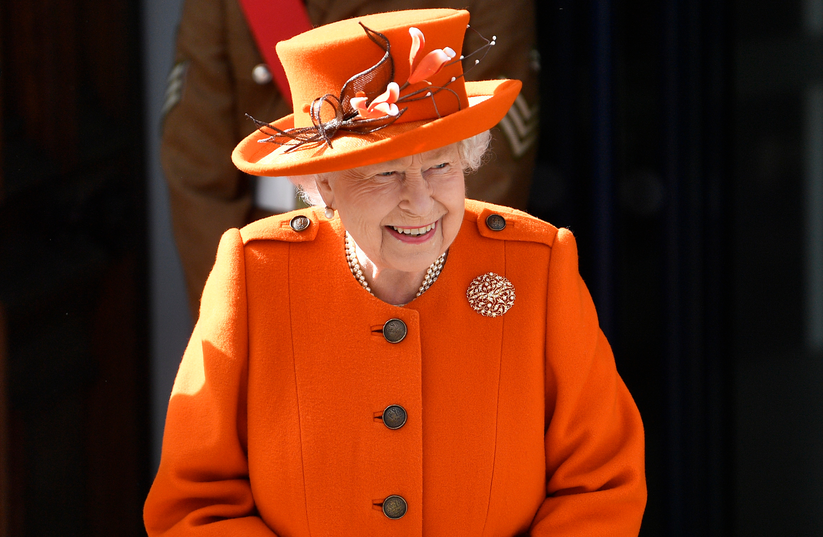 Britain's Queen Elizabeth departs an engagement at the Science Museum in London on March 7.