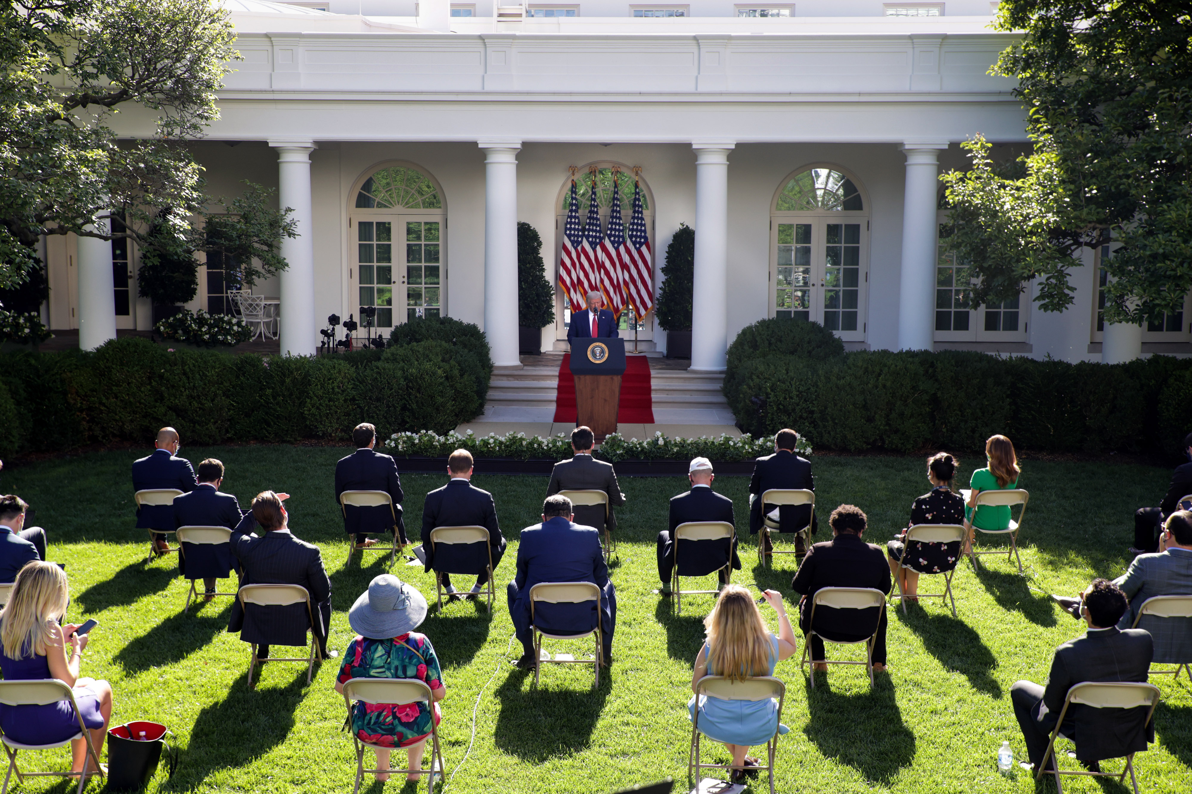 Trump Uses Rose Garden Event For Extended Campaign Like Attack On Biden The Washington Post