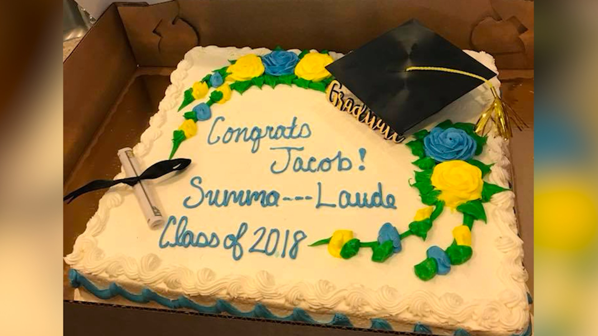 Proud mom orders 'Summa Cum Laude' cake online. Publix censors it to 'Summa . . .  Laude.