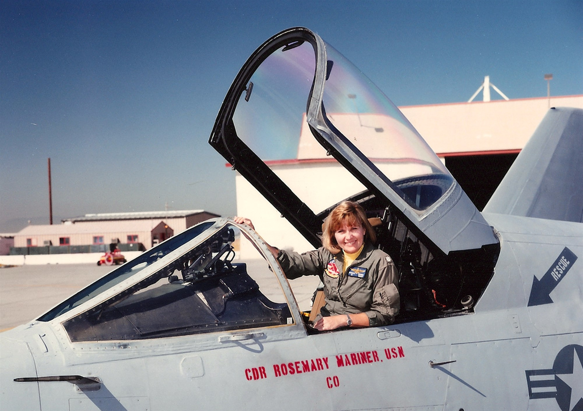 Pioneering Navy pilot Rosemary Mariner honored with all