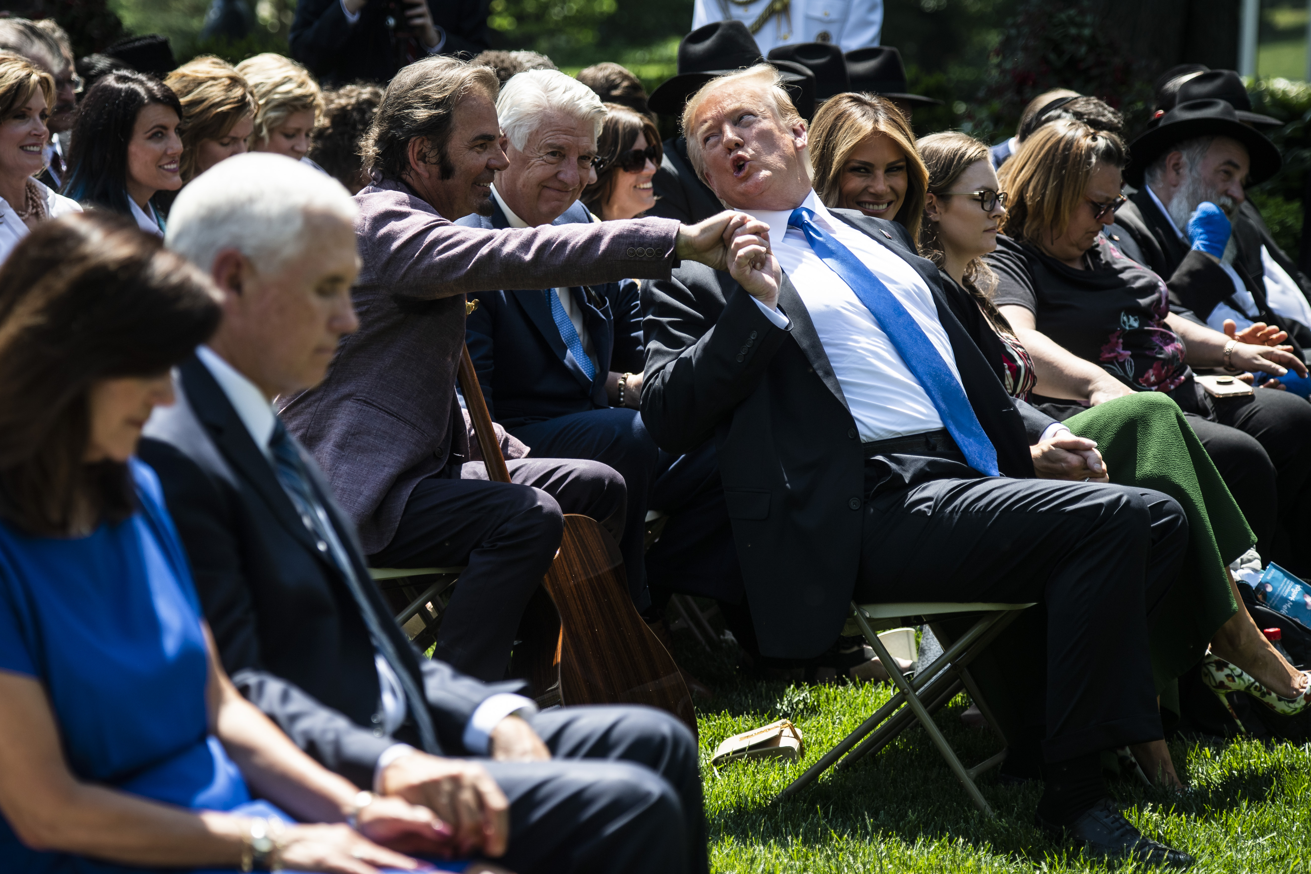 How do you get through that whole stuff?': Donald Trump leads a