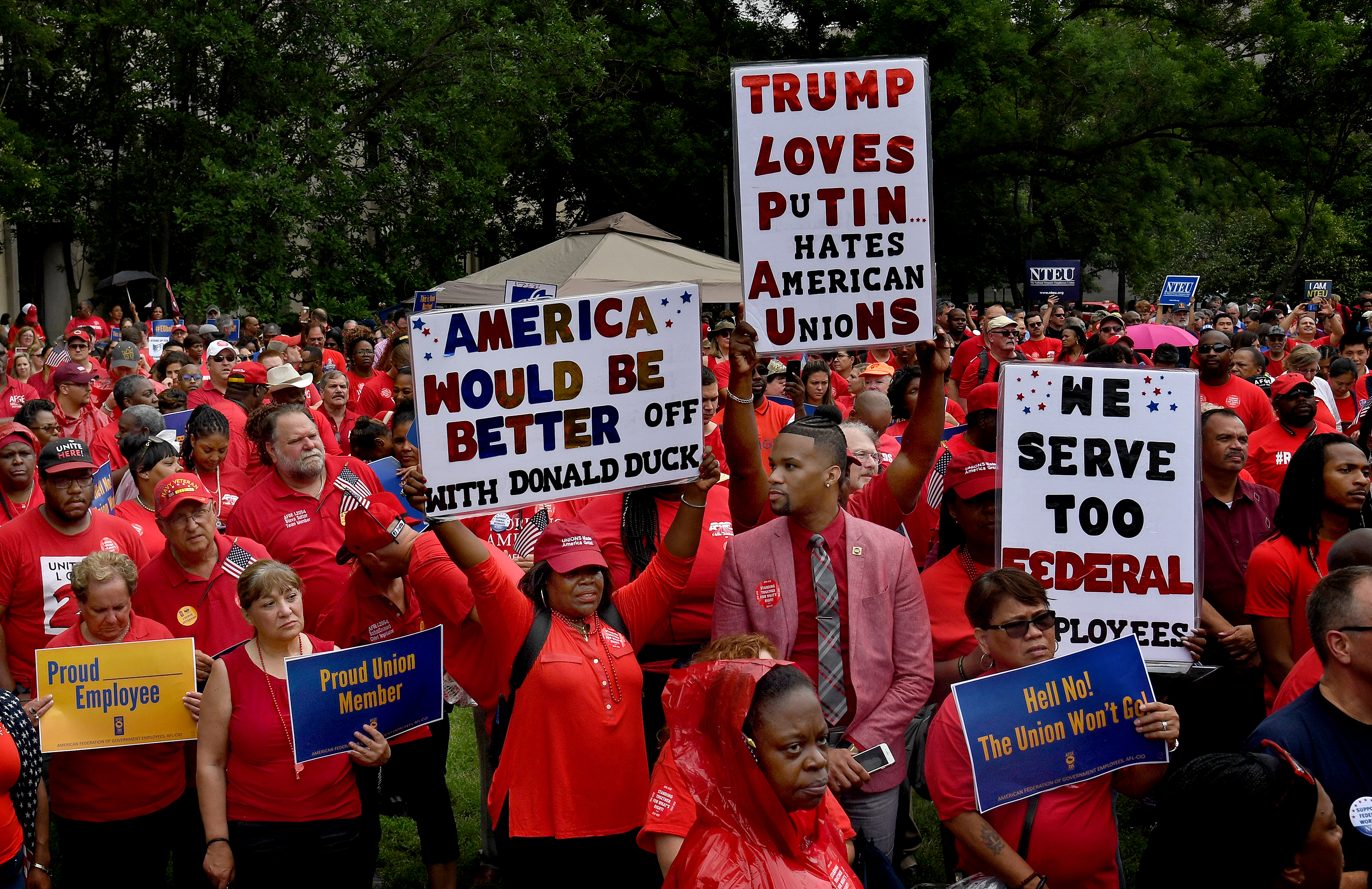 In victory for unions, judge overturns key parts of Trump