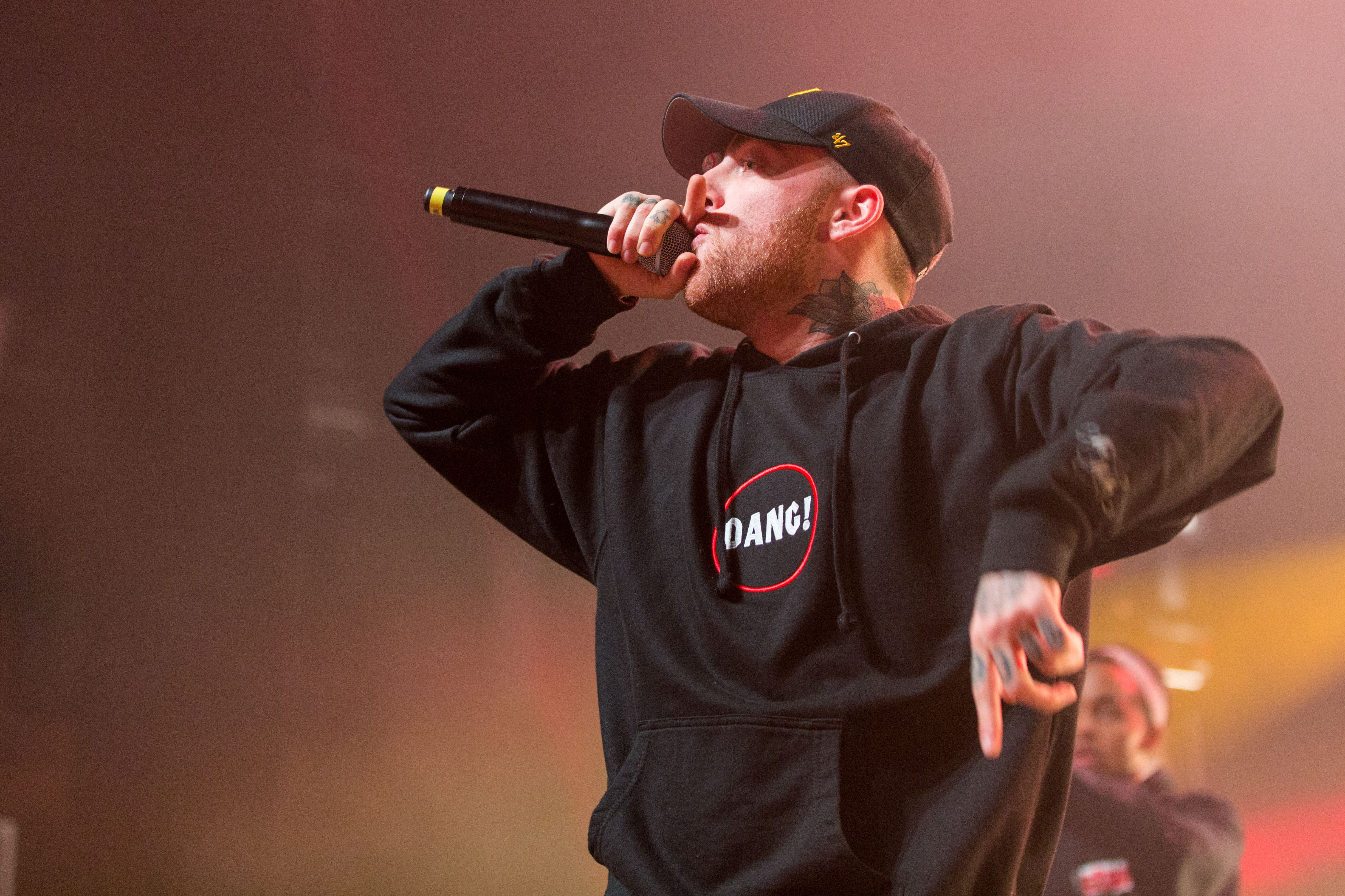 Mac Miller performs at the Orpheum Theatre in Madison, Wisc., in Oct. 2016.