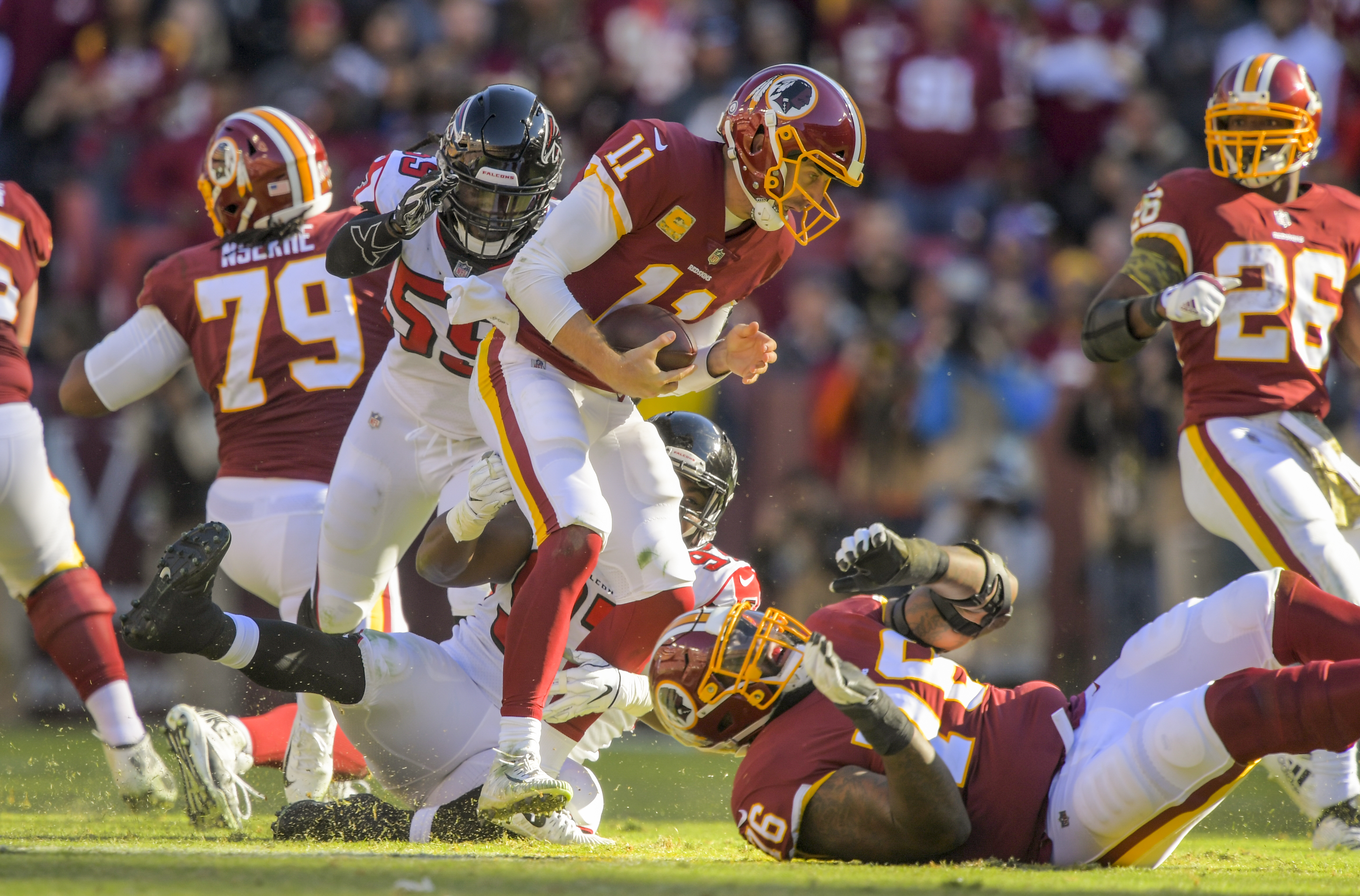 sports shoes ae99f 2c6ee Redskins' winning streak ends with an ugly, injury-riddled ...