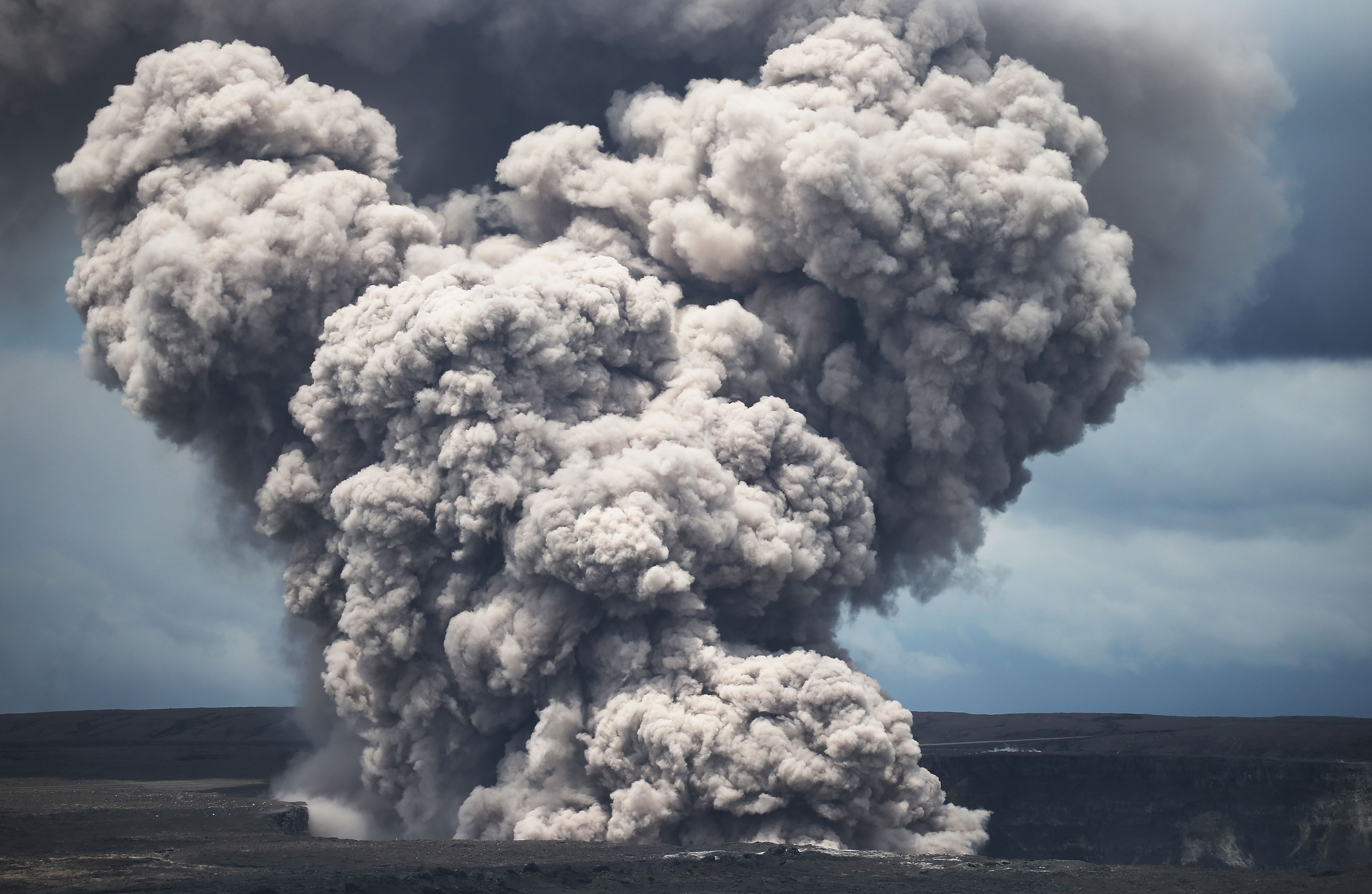 Hawaii Kilauea volcano erupts explosively and shoots ash