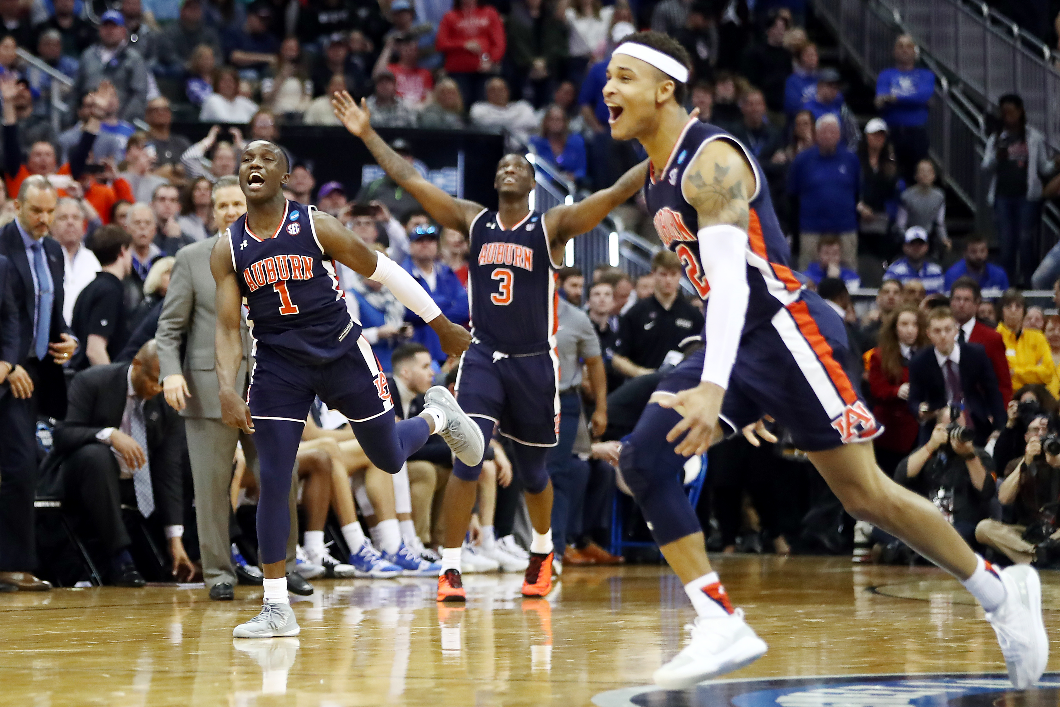 Kentucky Auburn Tigers Win In Ot To Reach First Final Four