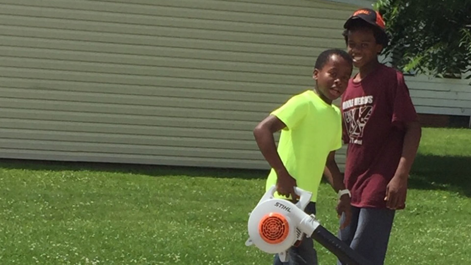 Reggie Fields, 12, had cops called on him while mowing a neighbor's