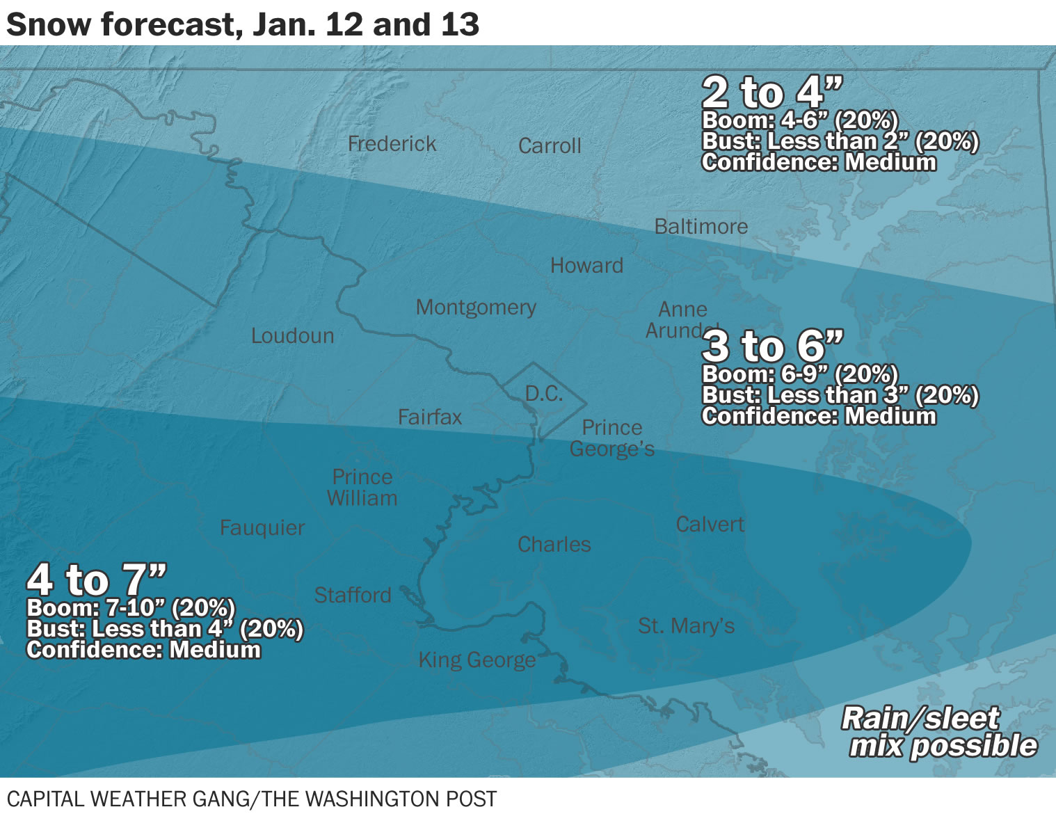 Snow set to blanket Washington region this weekend: Forecast amounts