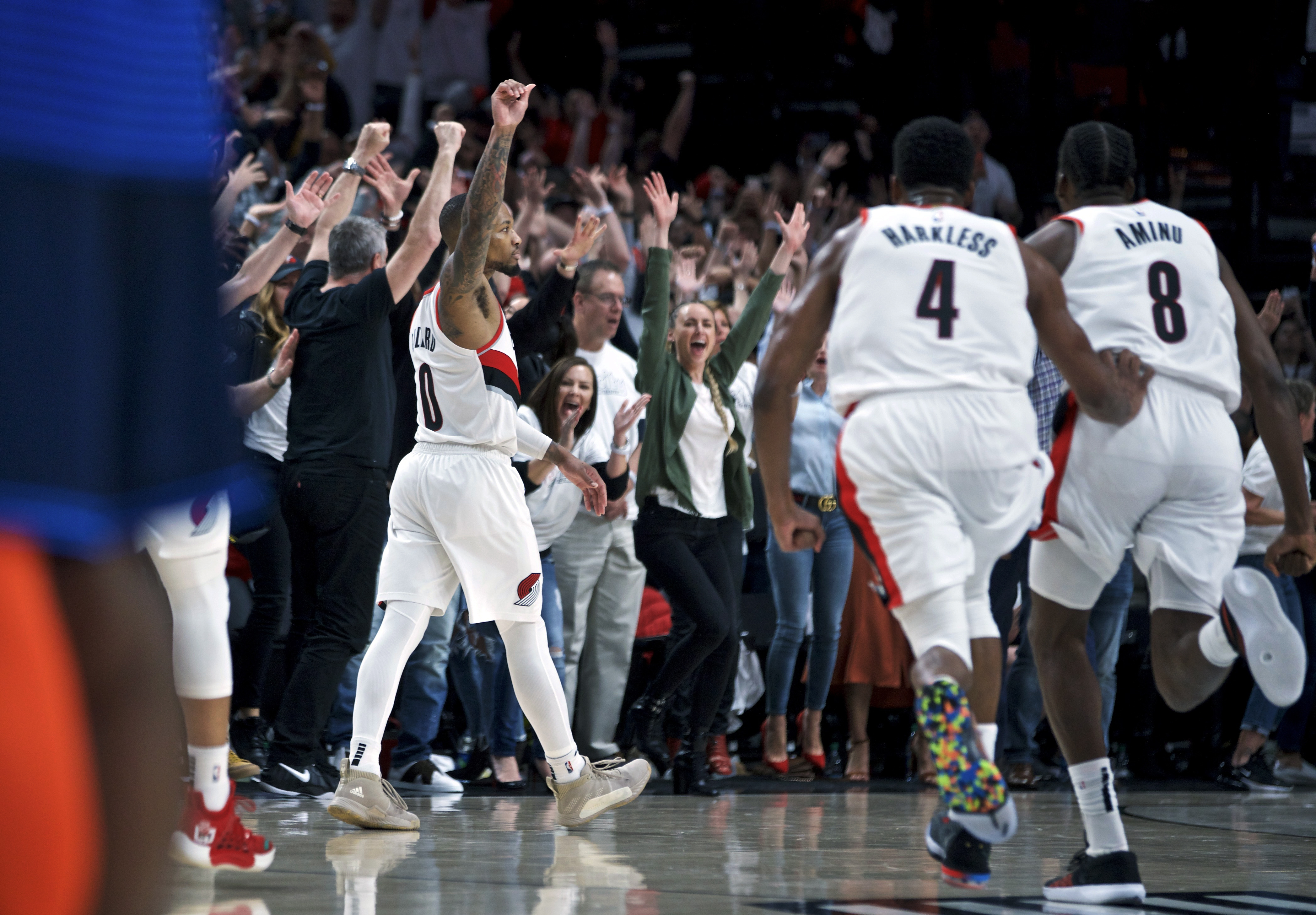 914ab01195a Damian Lillard s dagger gives Blazers  last word  and ends Thunder s season  - The Washington Post