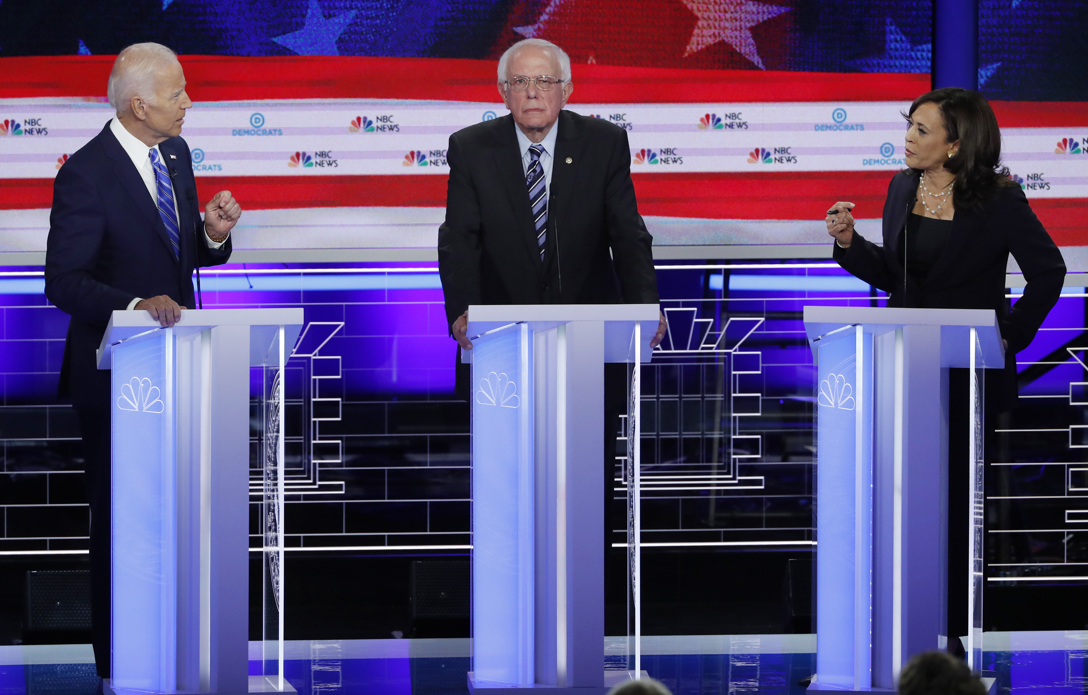 Image result for Democrats square off over health care, race in 2020 presidential primary debate