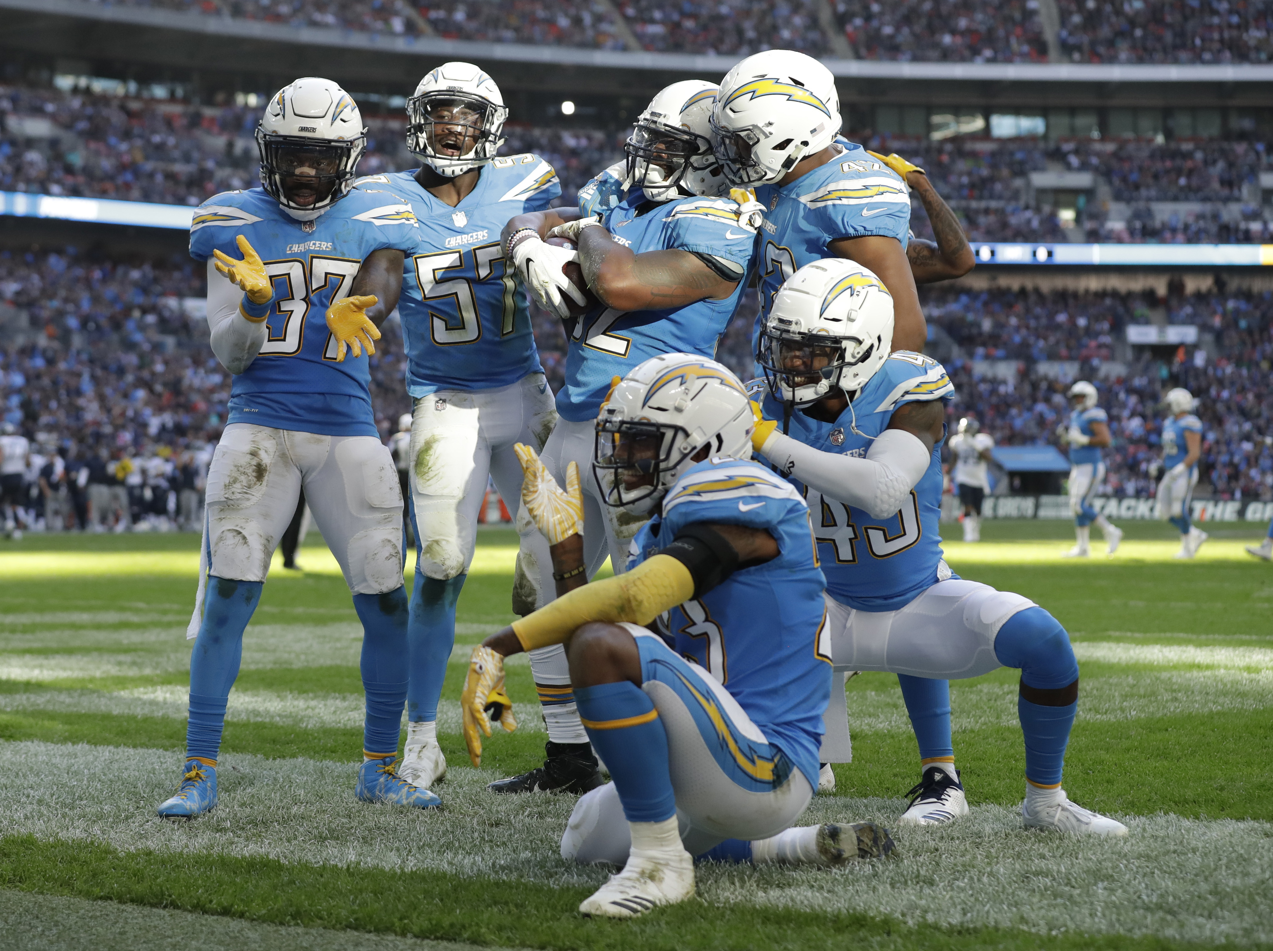 The Chargers Are Going Back To Powder Blue Uniforms But Not Back To San Diego The Washington Post