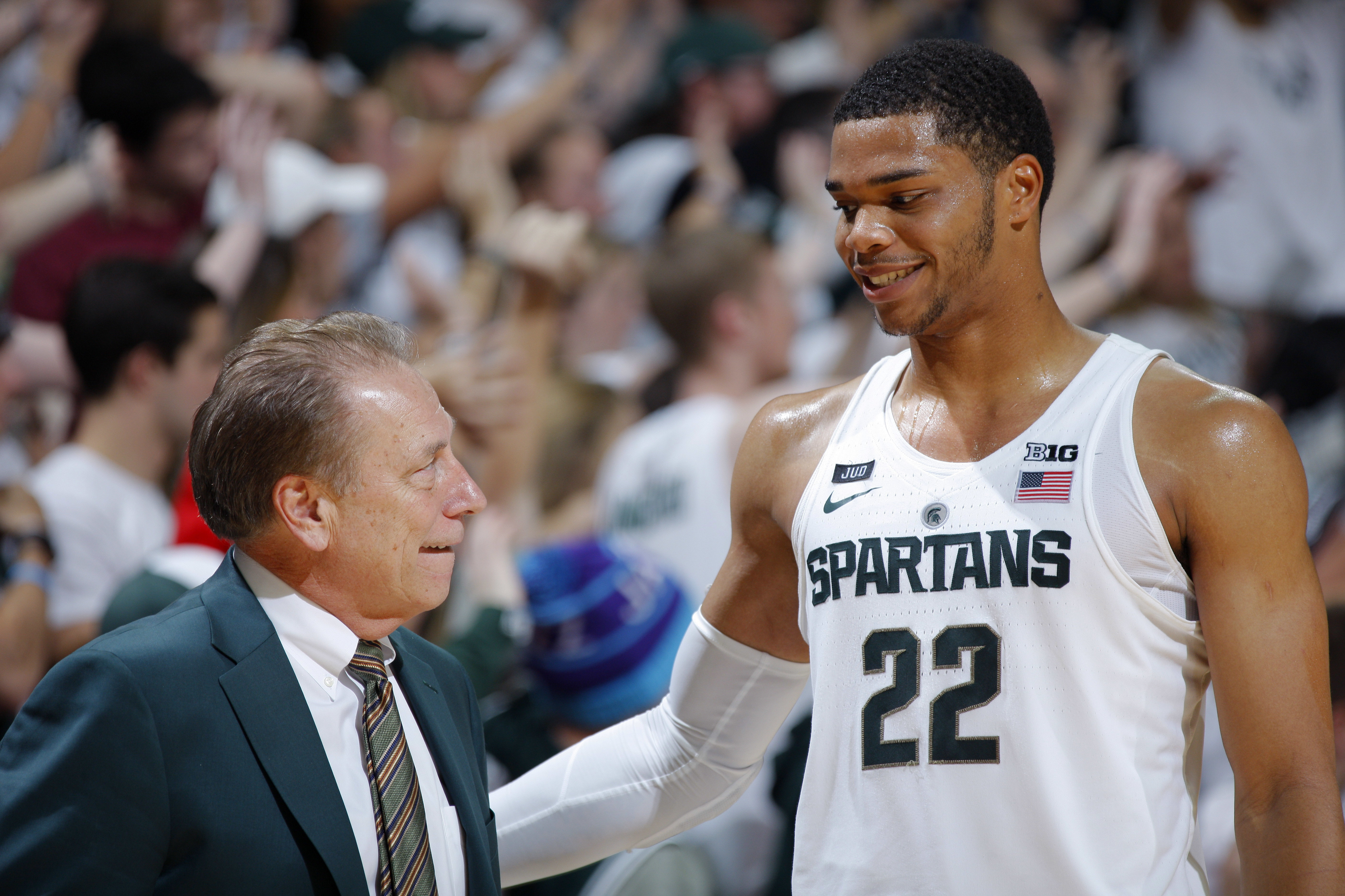 pretty nice d640e 44488 Miles Bridges is back at Michigan State, and that's good for ...