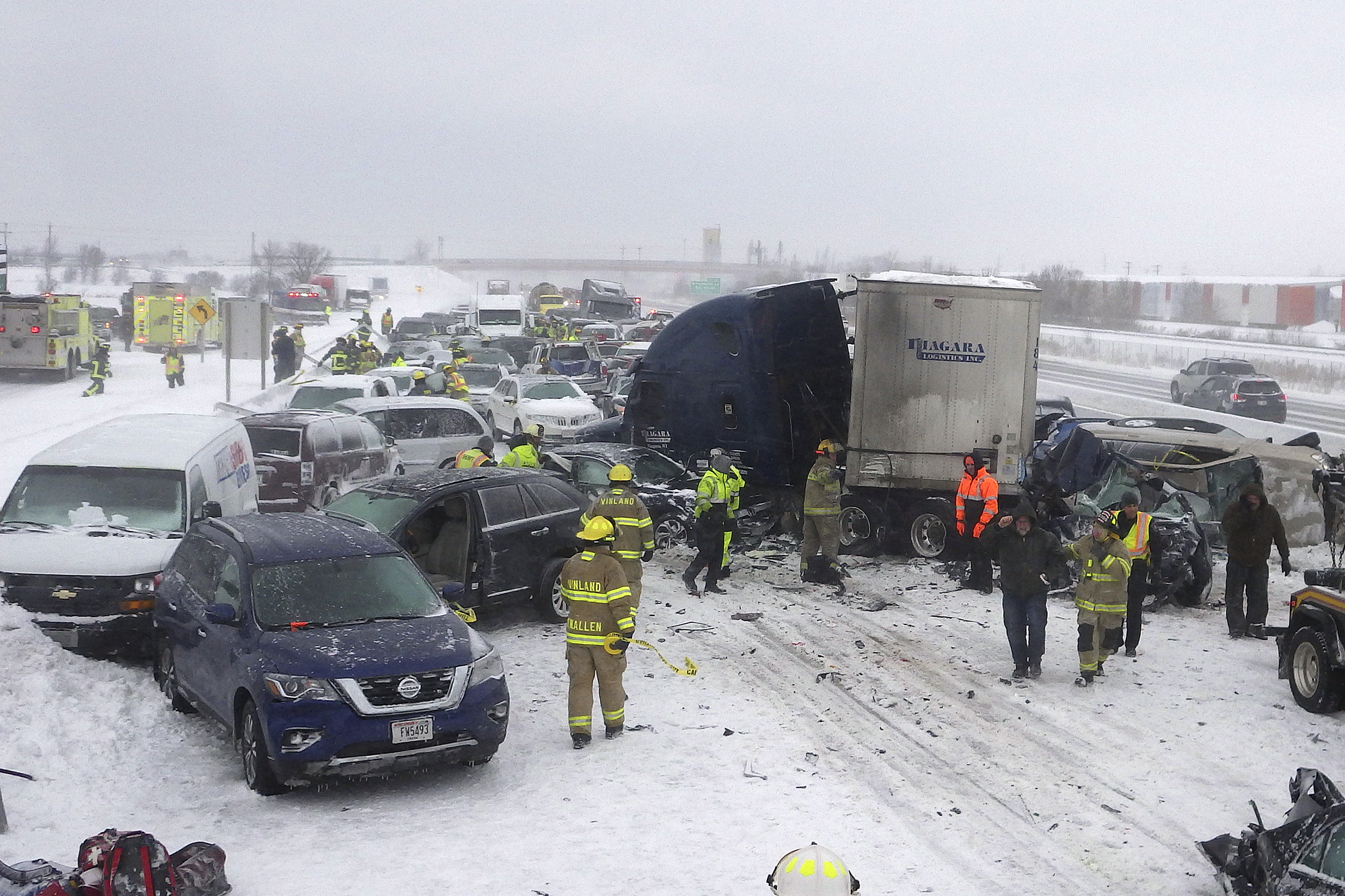 131-car pileup: 911 calls and video released from the