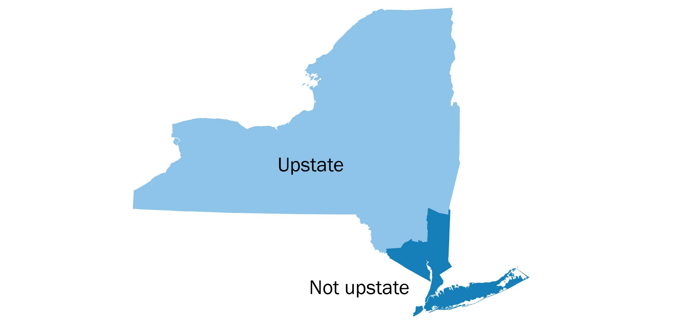 Upstate New York Map So, what is 'upstate' New York, exactly?   The Washington Post