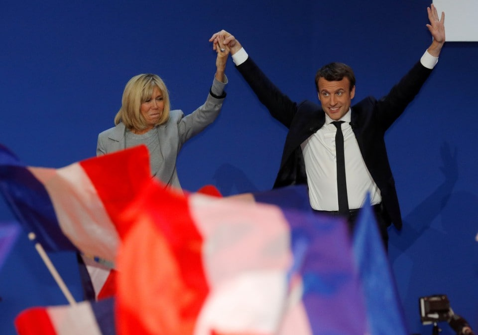 After Years Of Hiding Their Relationship Brigitte And Emmanuel Macron Enter The Political Stage Together The Washington Post