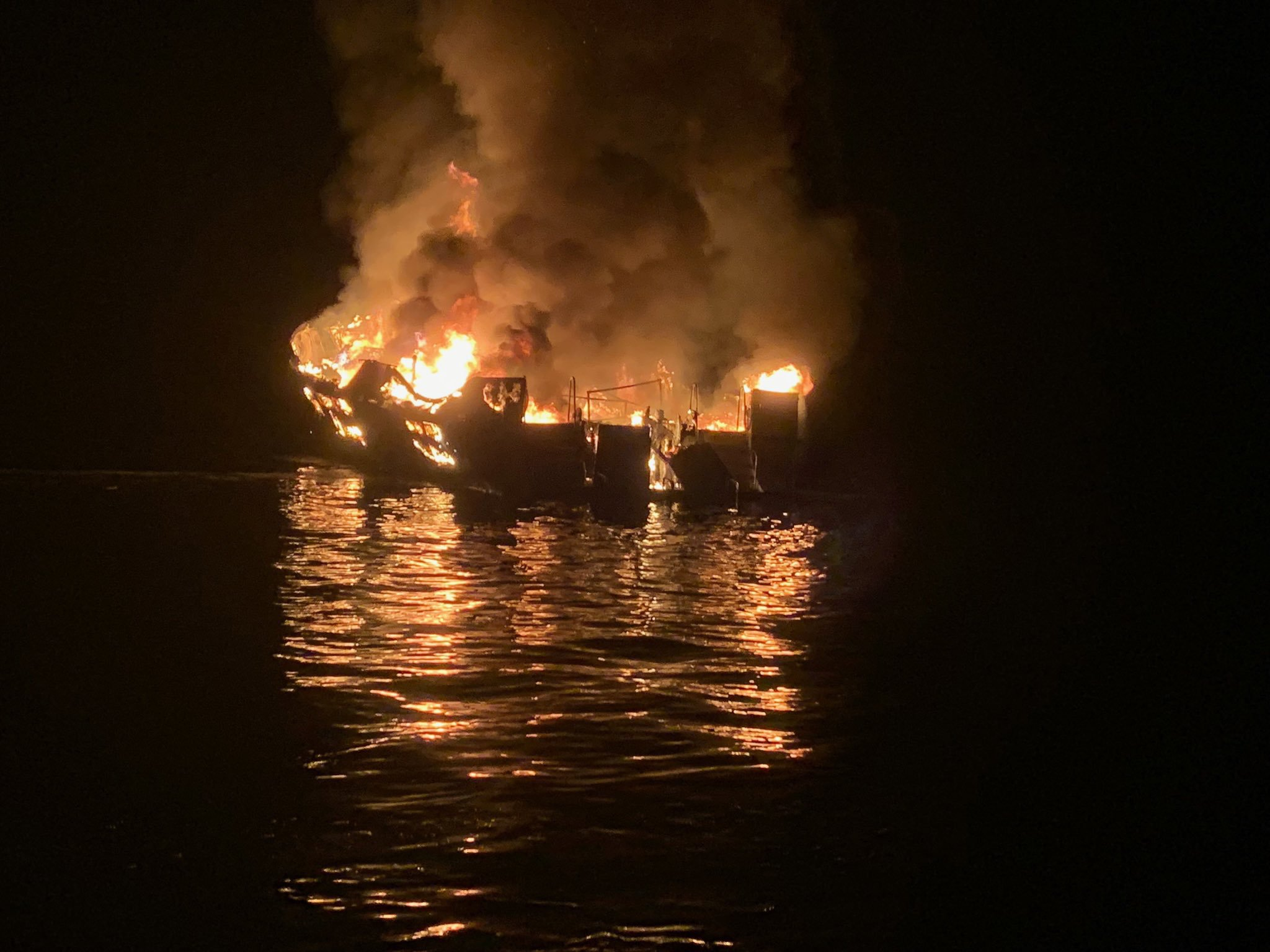 California boat fire: All 34 people on boat that was