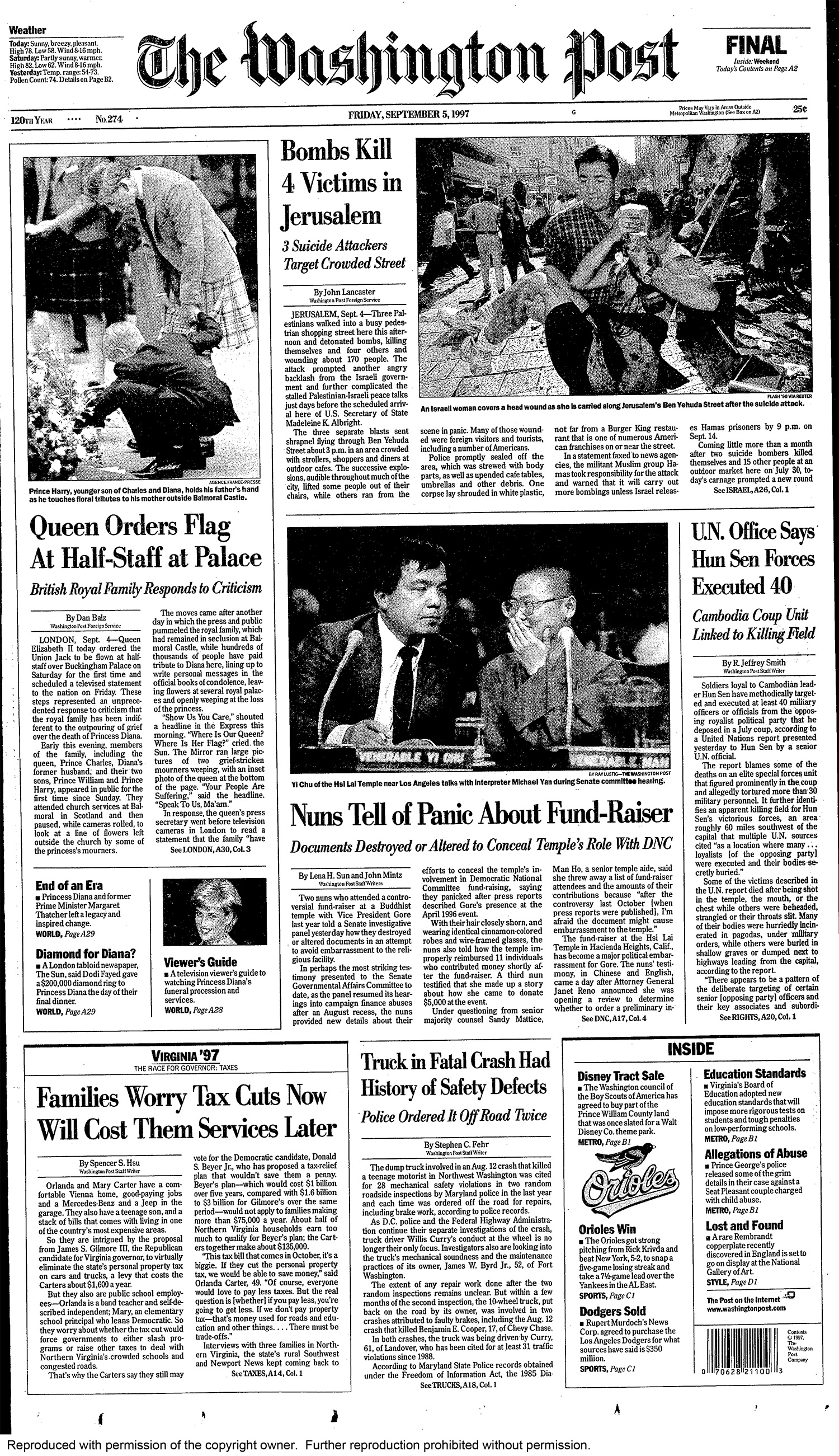 Remembering Princess Diana S Death 8 Days In 1997 That Shook Britain And The World The Washington Post