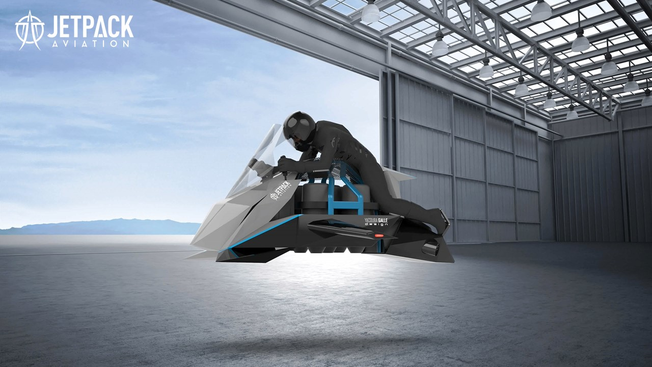 A California company says it's building a flying motorcycle powered by jet engines
