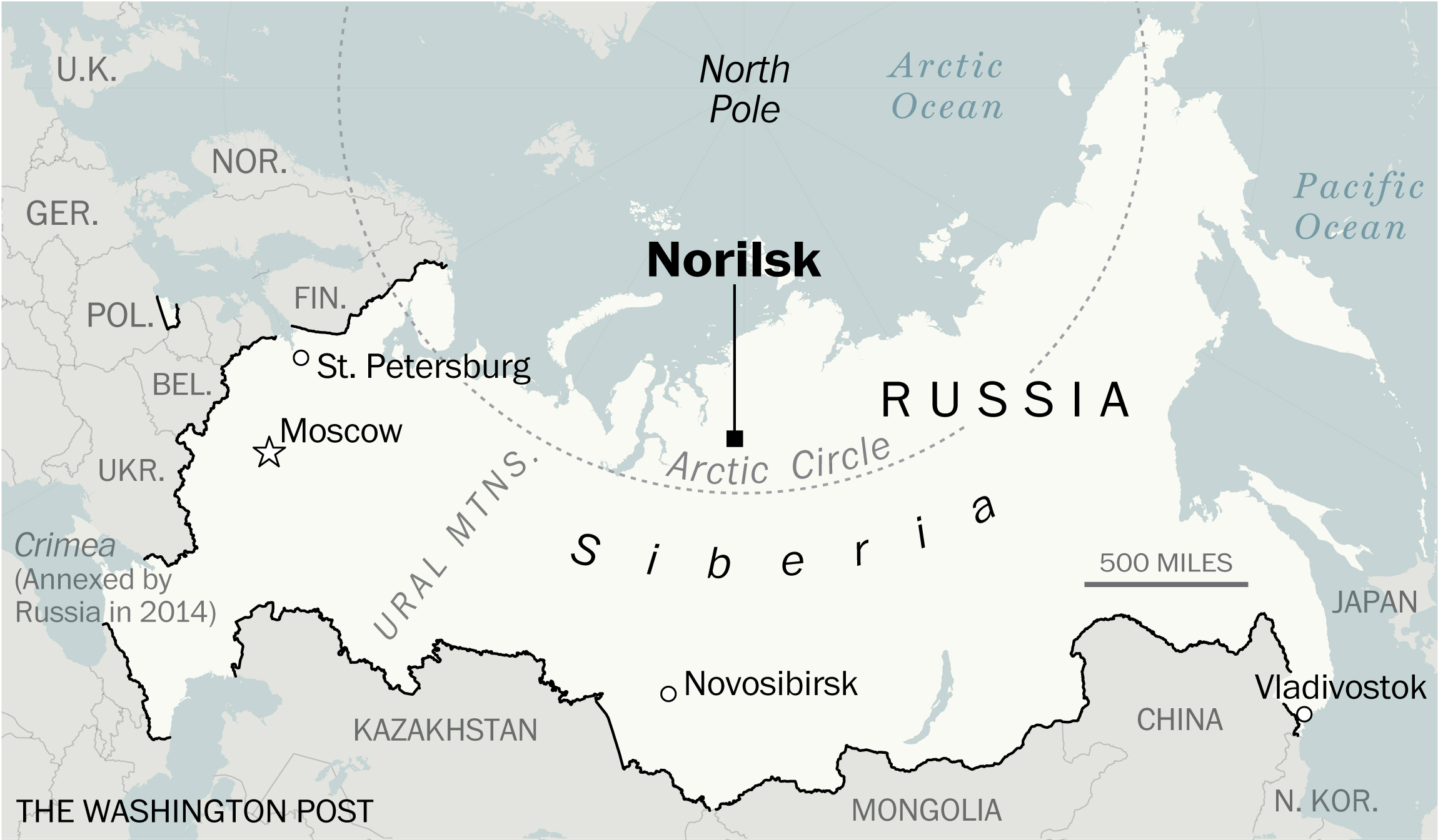 Arctic Oil Spill Draws Ire From Russia S Putin The Washington Post