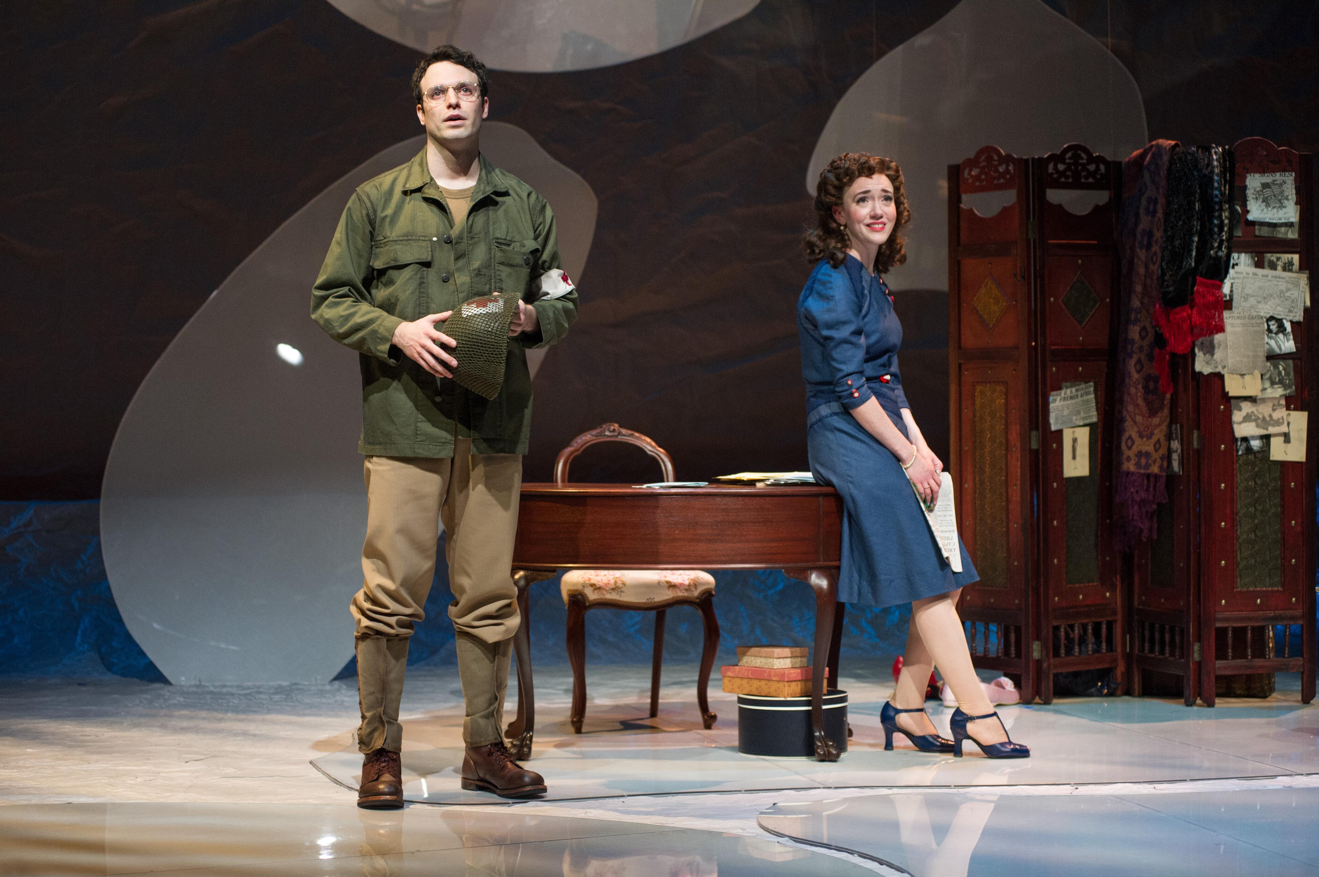Jake Epstein and Amelia Pedlow in Dear Jack, Dear Louise