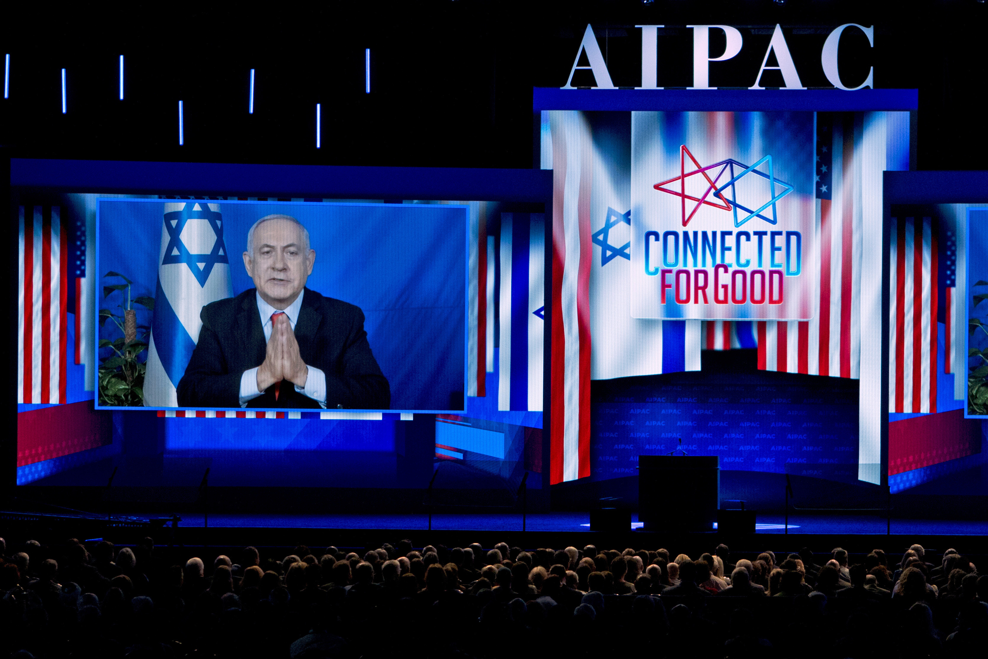 Image result for netanyahu aipac