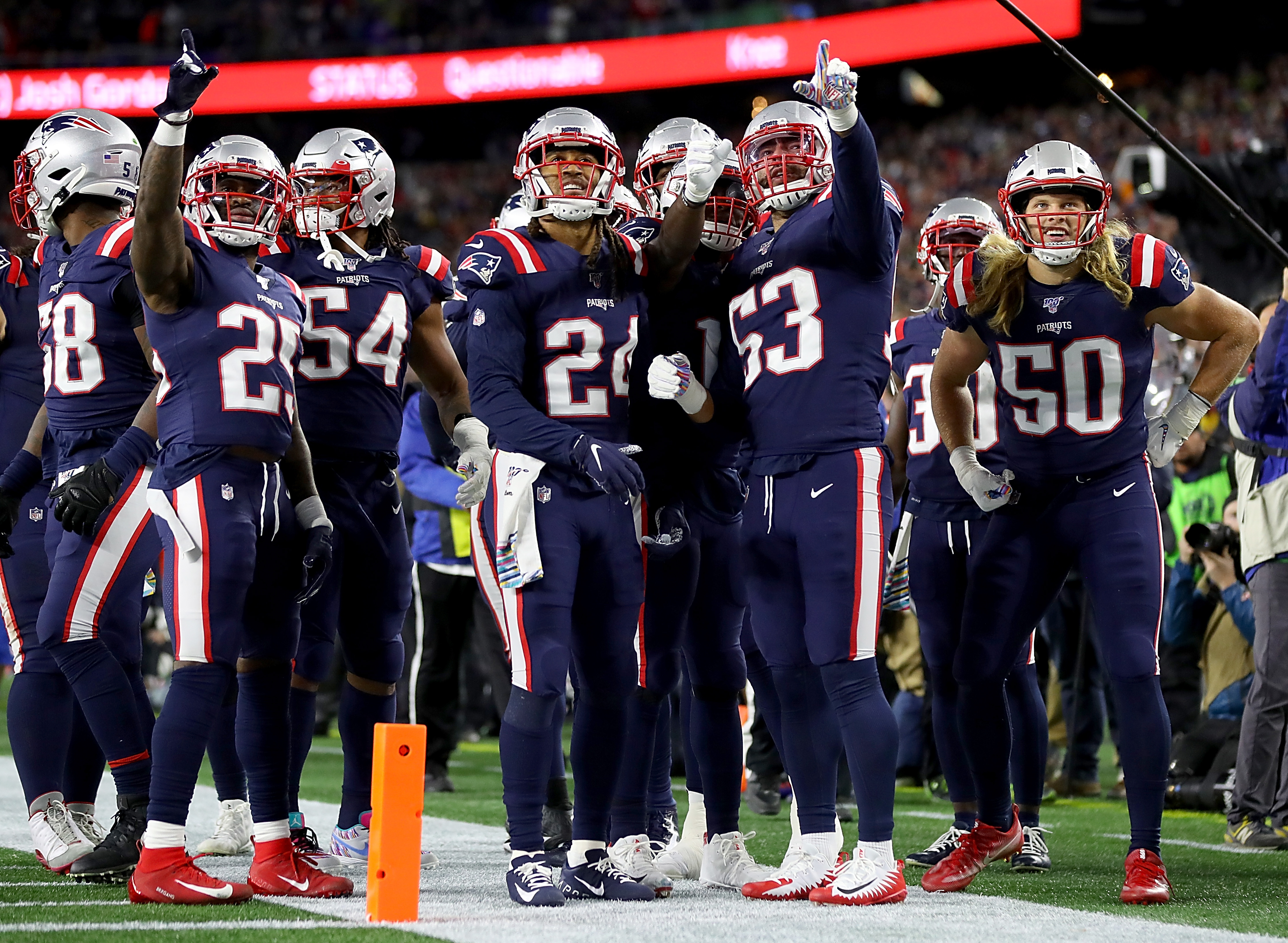 Patriots Giants New England Defense Leads Way To A Win