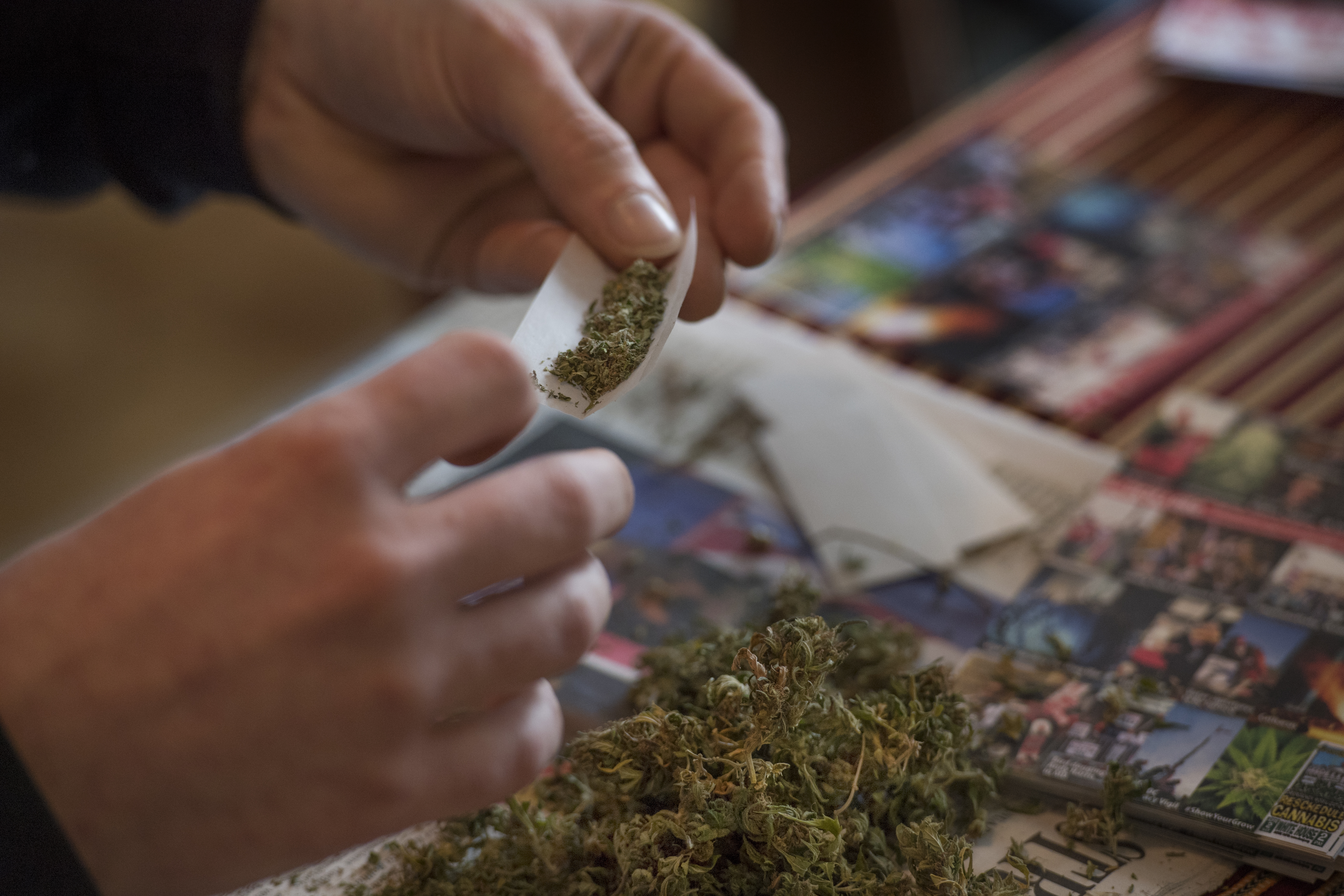 As pot flourishes in D C , federal ban restricts use by