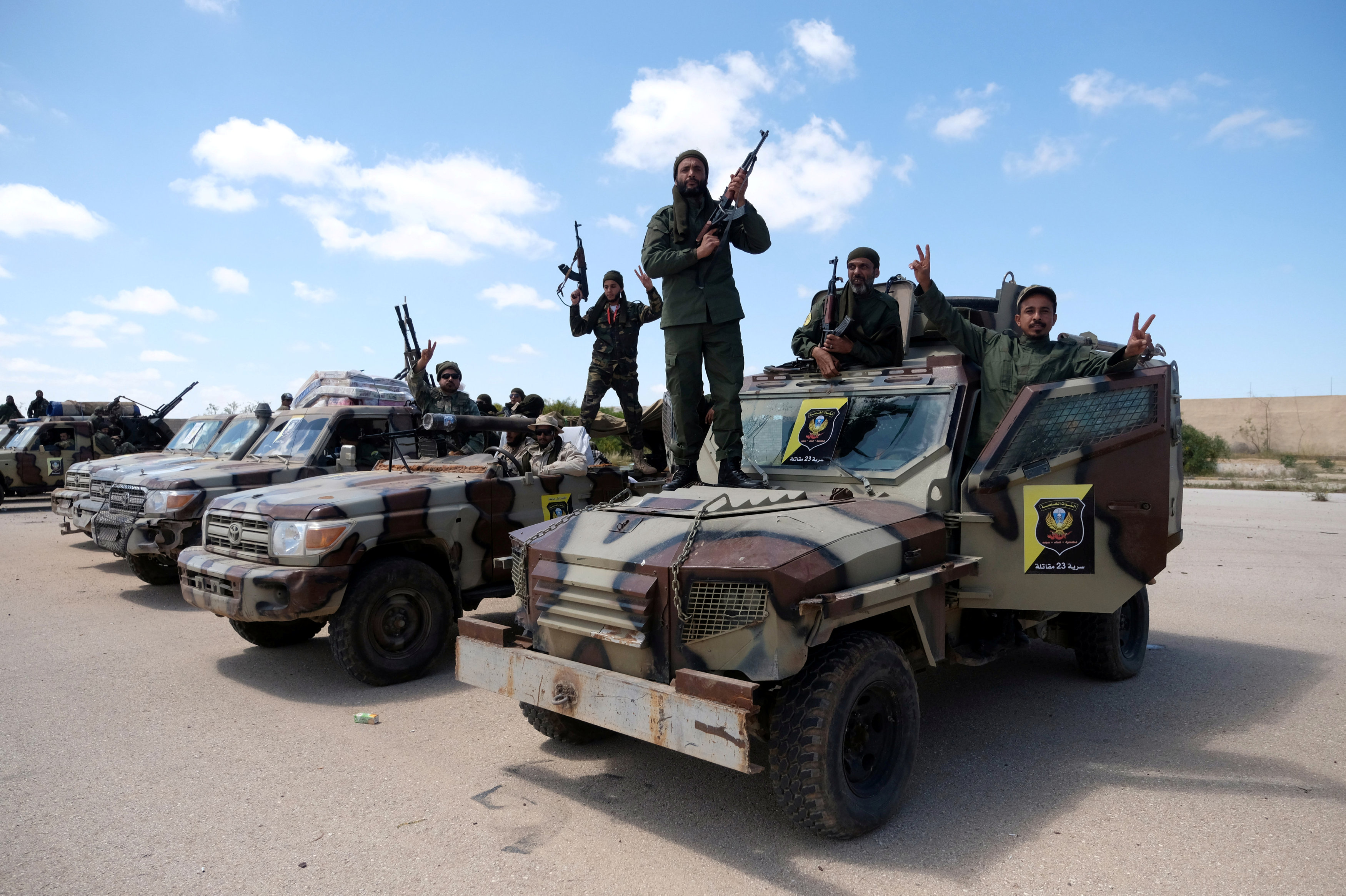 Hasil gambar untuk American troops in Libya moved out of country as violence escalates near capital