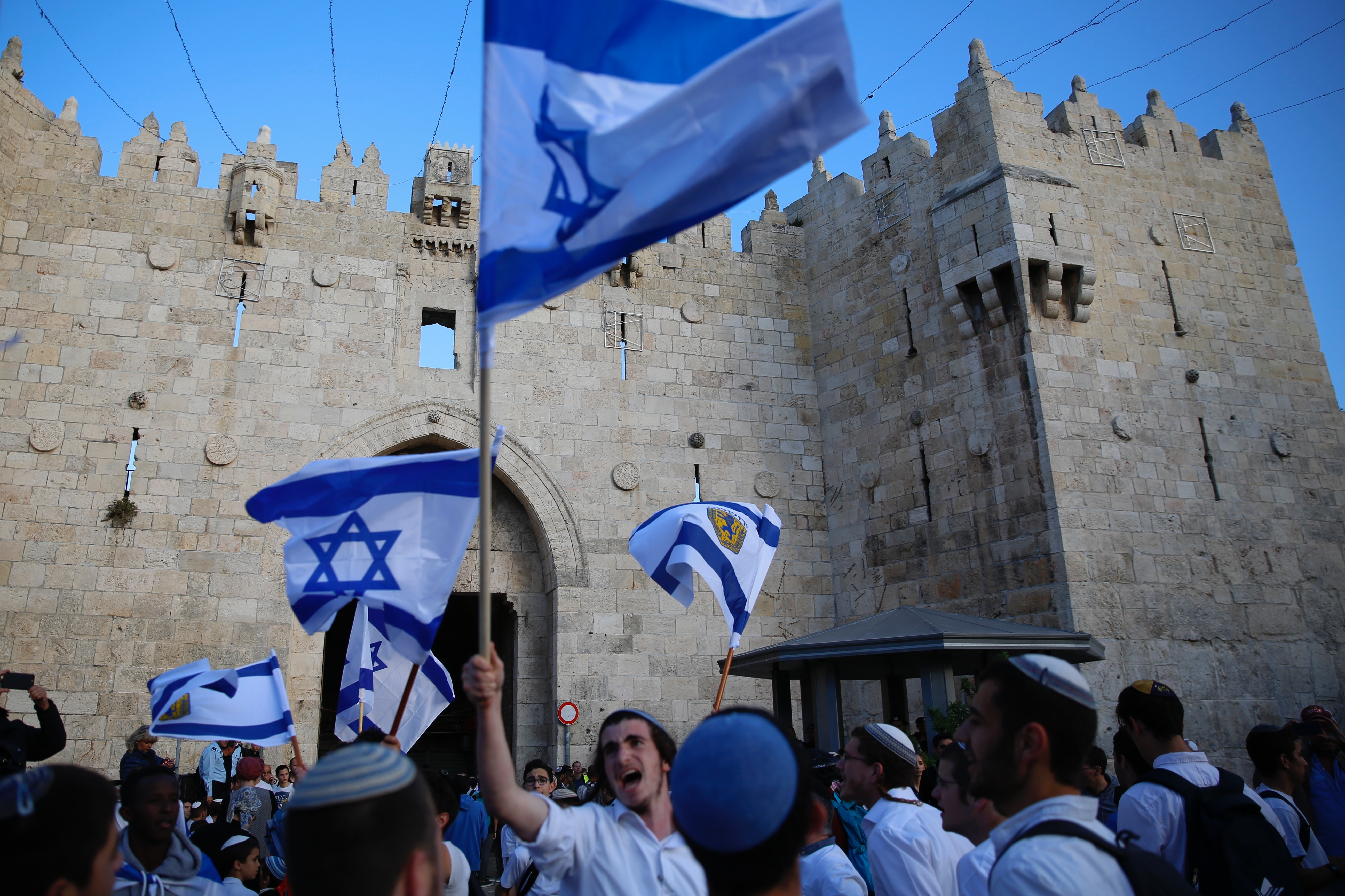 Under banner of peace, U S  opens embassy in Jerusalem