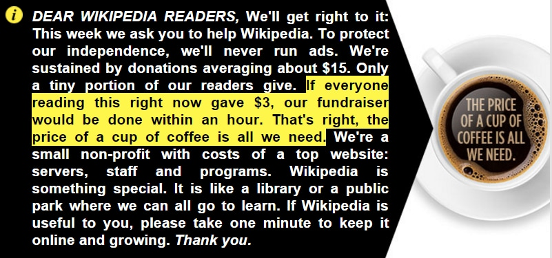 Wikipedia Has A Ton Of Money So Why Is It Begging You To Donate Yours The Washington Post