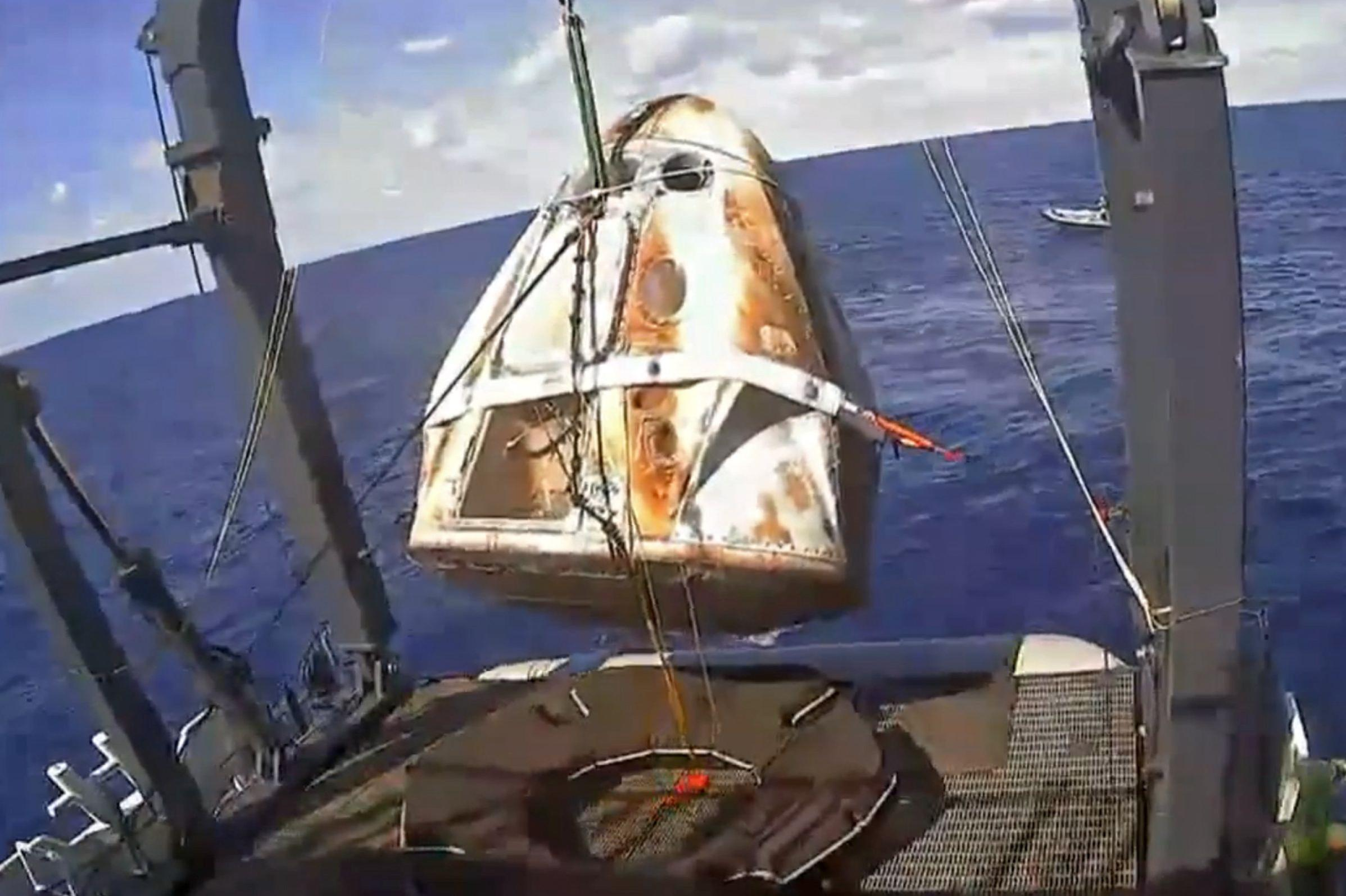 Elon Musk's SpaceX capsule lands successfully in crucial