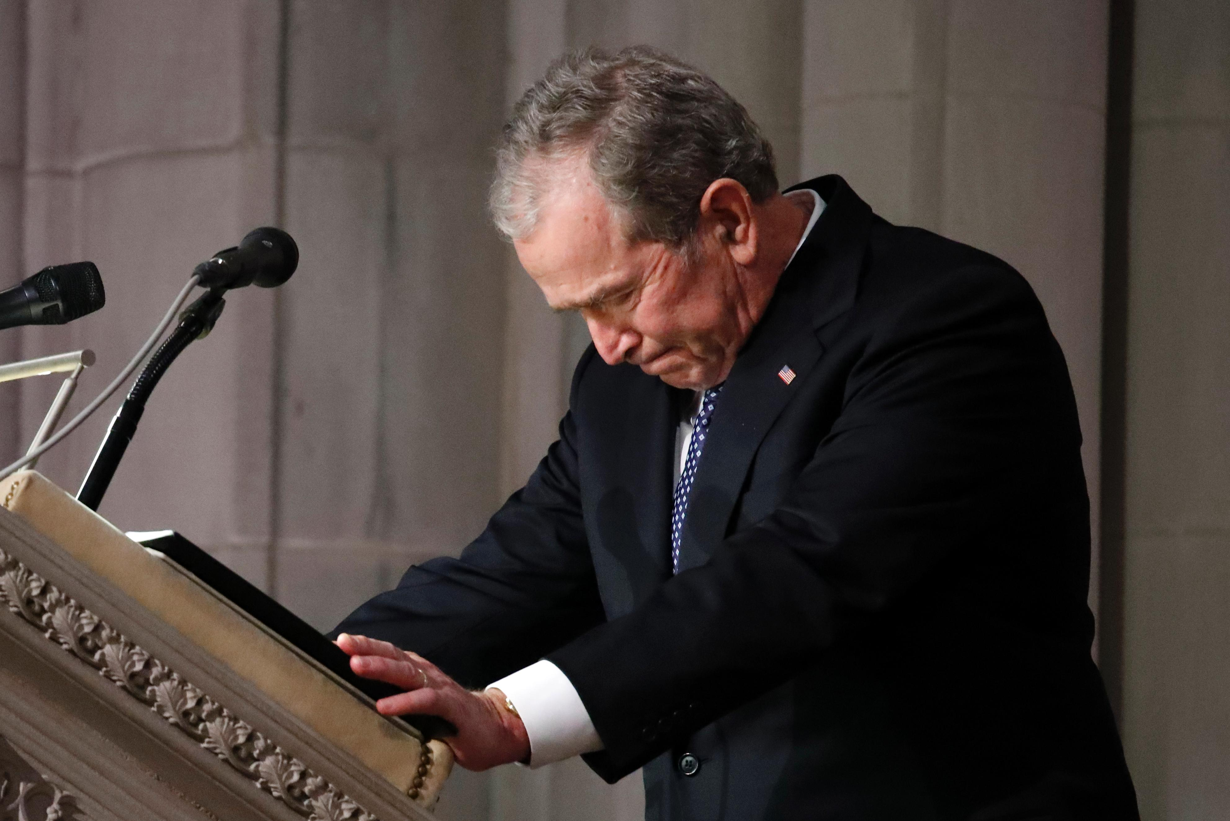 Why George W Bush S Eulogy For George H W Bush Is Historic The