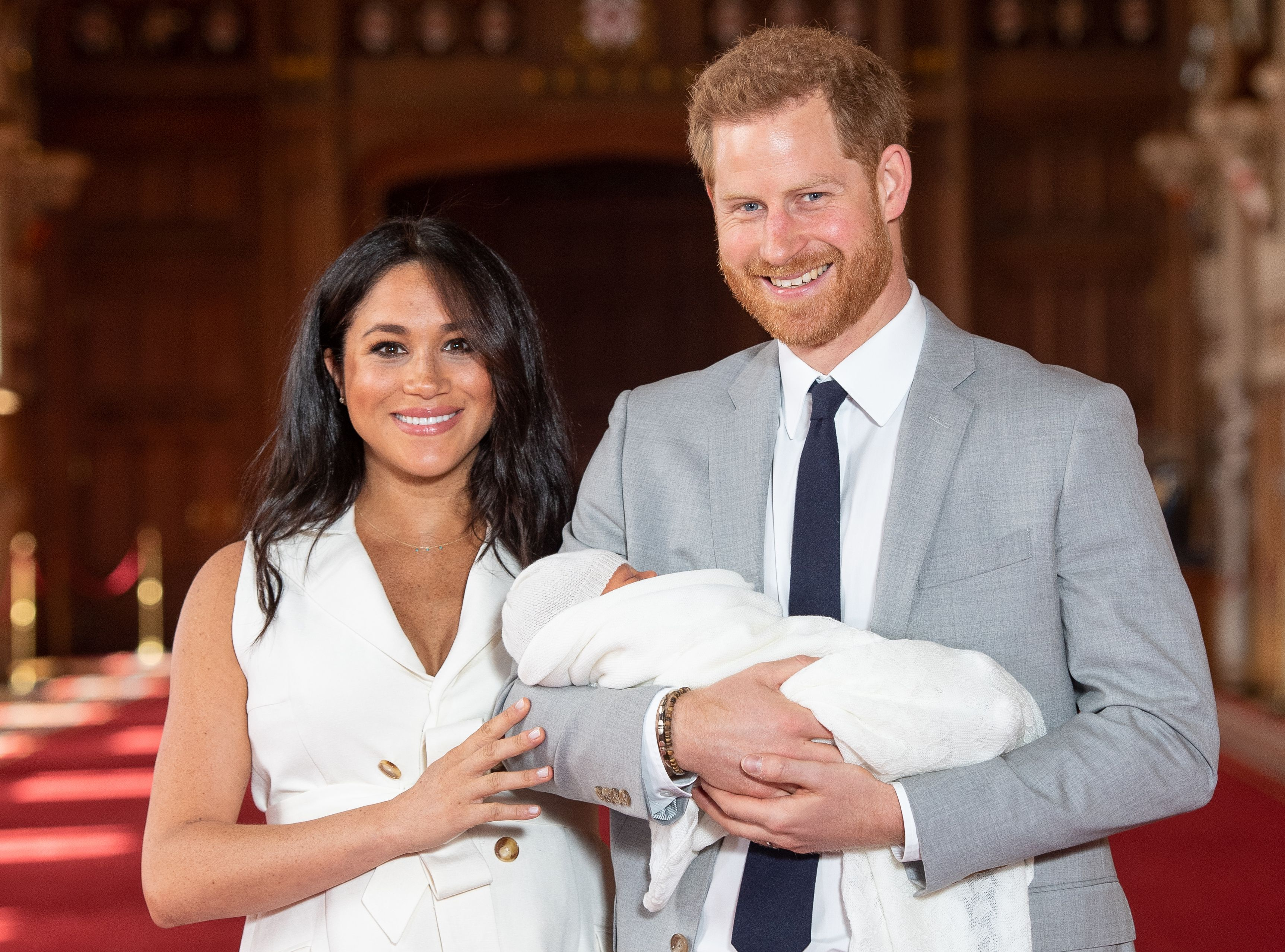 1503e2c5a Baby Archie! Britain s Prince Harry and Meghan introduce their newborn son.