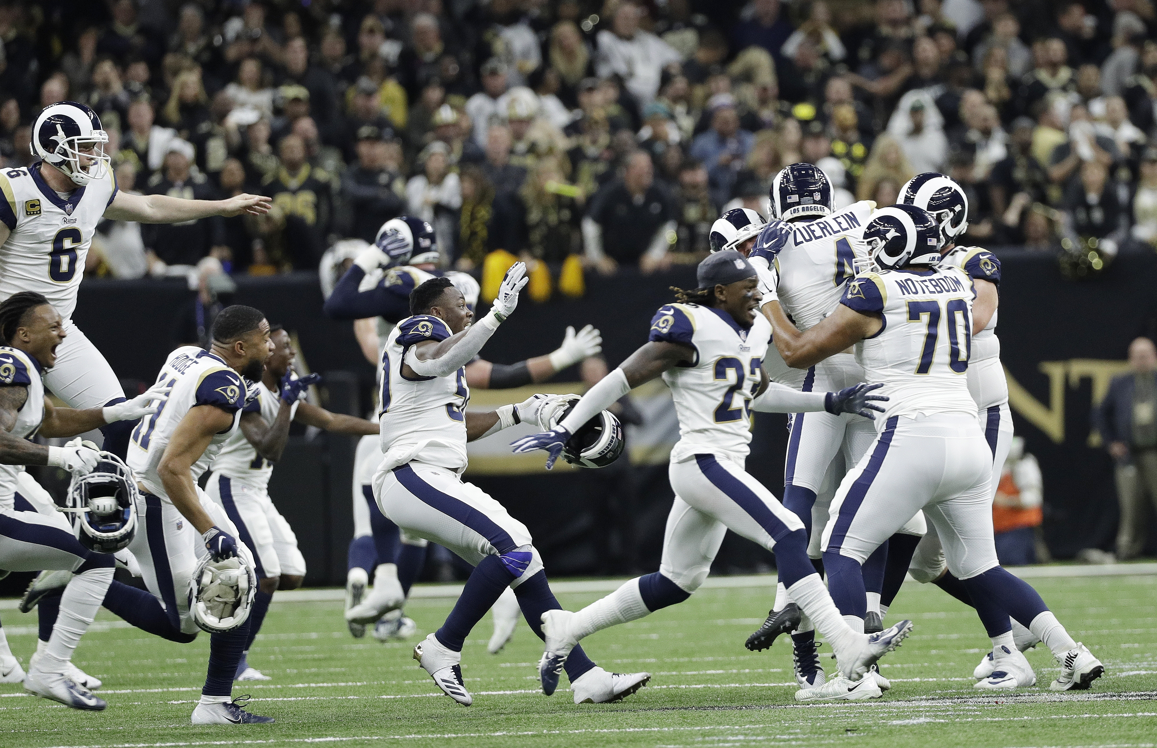 482300c1 Rams beat Saints in NFC championship, advance to Super Bowl - The ...