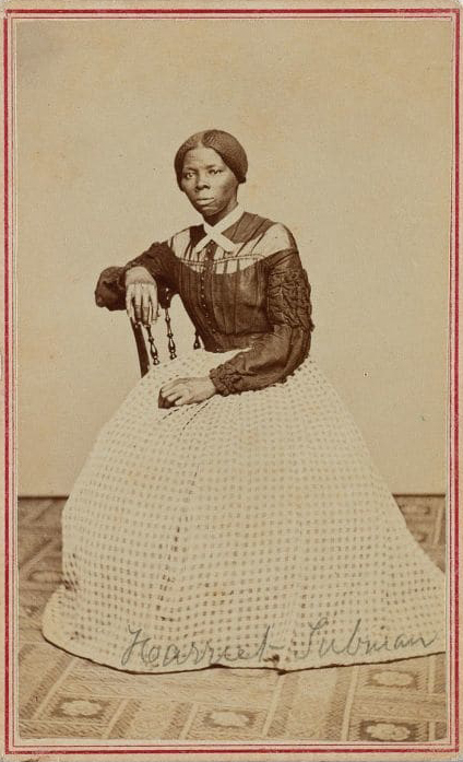 A photograph of Harriet Tubman from the late 1860s.