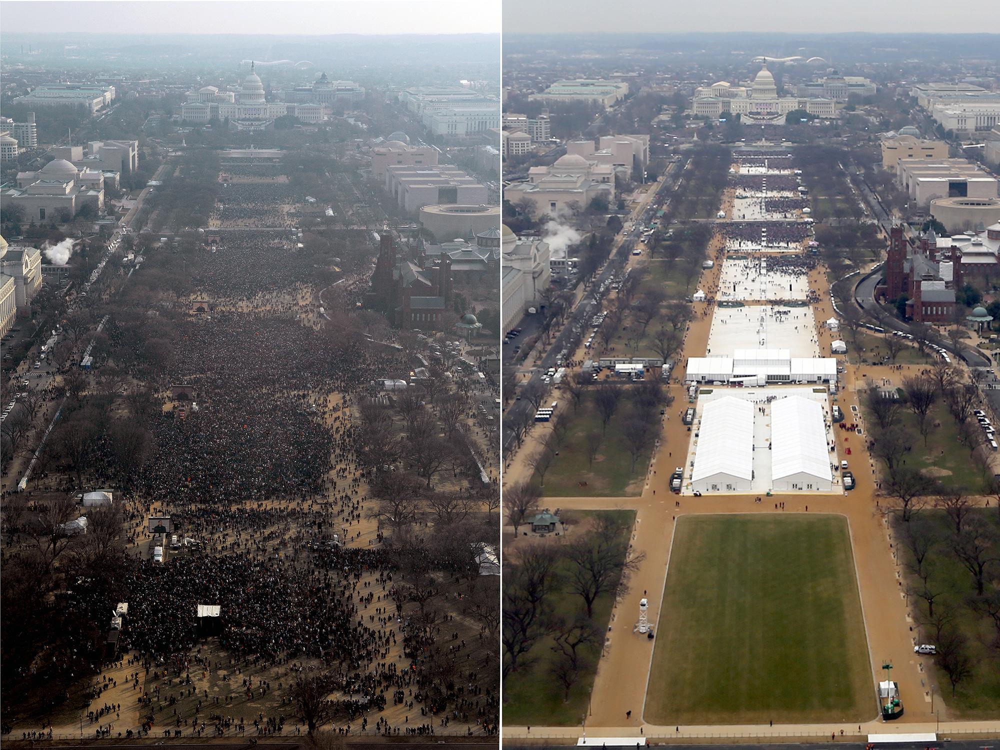 President Donald Trump Sworn In Oath 2017 Inauguration 11 x 14 Photo Photograph