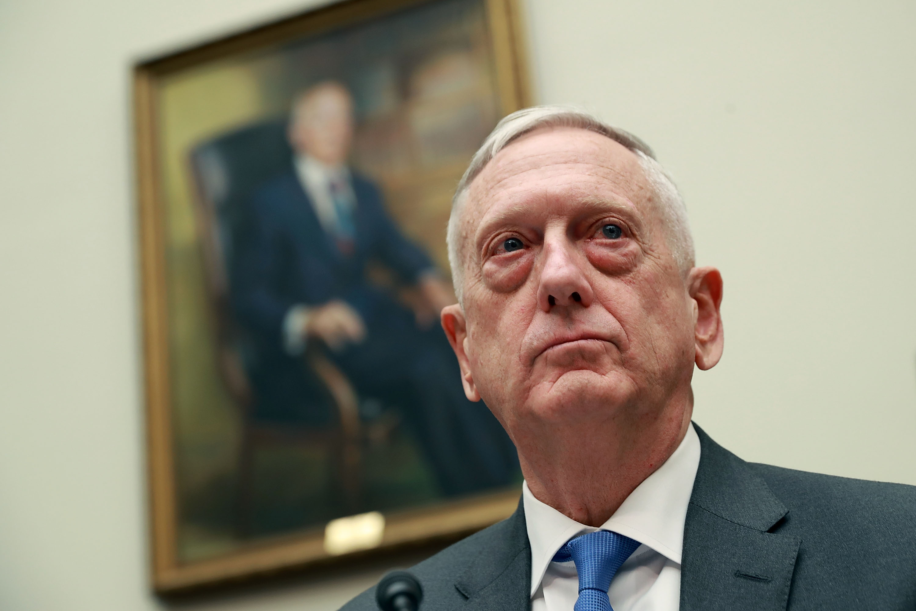 Defense Secretary Jim Mattis quit in December over President Trump's announced immediate withdrawal from Syria, which Trump has since partially reversed. (Chip Somodevilla/Getty Images)