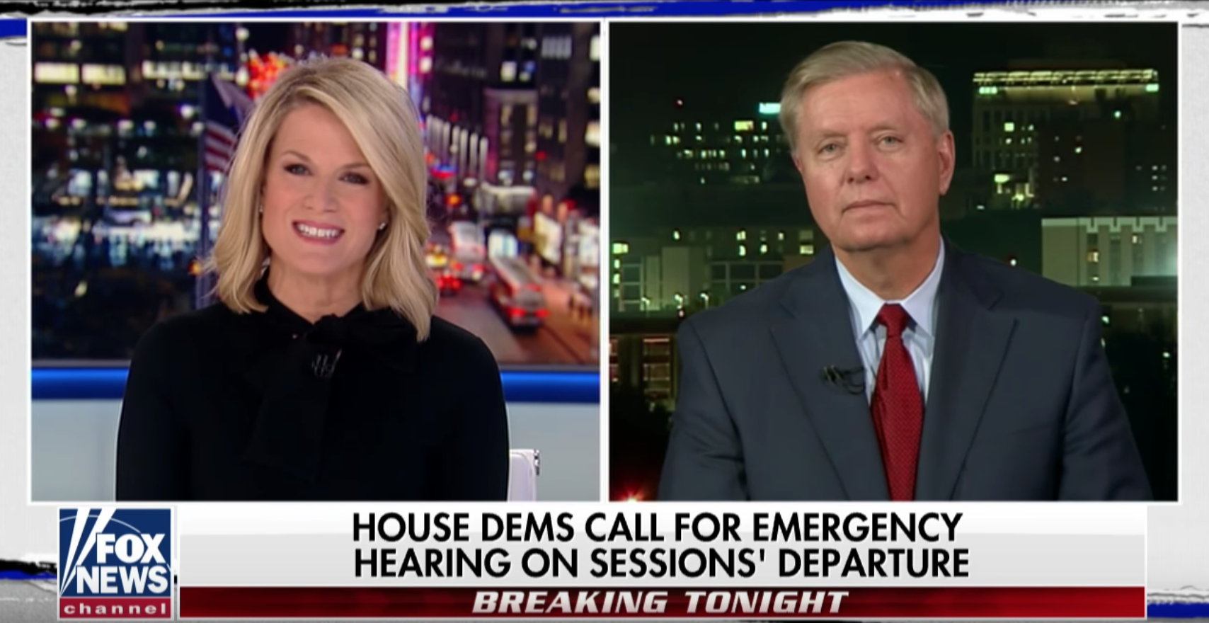 Lindsey O. Graham in 2017: 'Holy hell to pay' if Sessions is fired. In 2018: 'When was that? What year?'