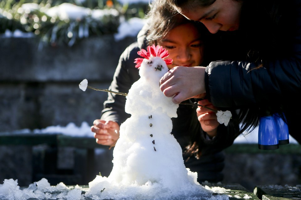Photos Santiago Chile Sees Most Snow In Decades The Washington Post