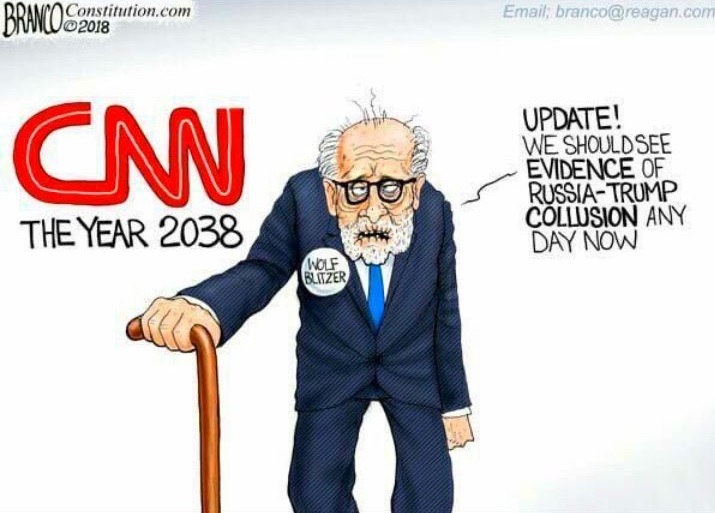 Trump Tweets Another Anti Cnn Cartoon This One By The Same Artist Who Drew Clinton In Blackface The Washington Post