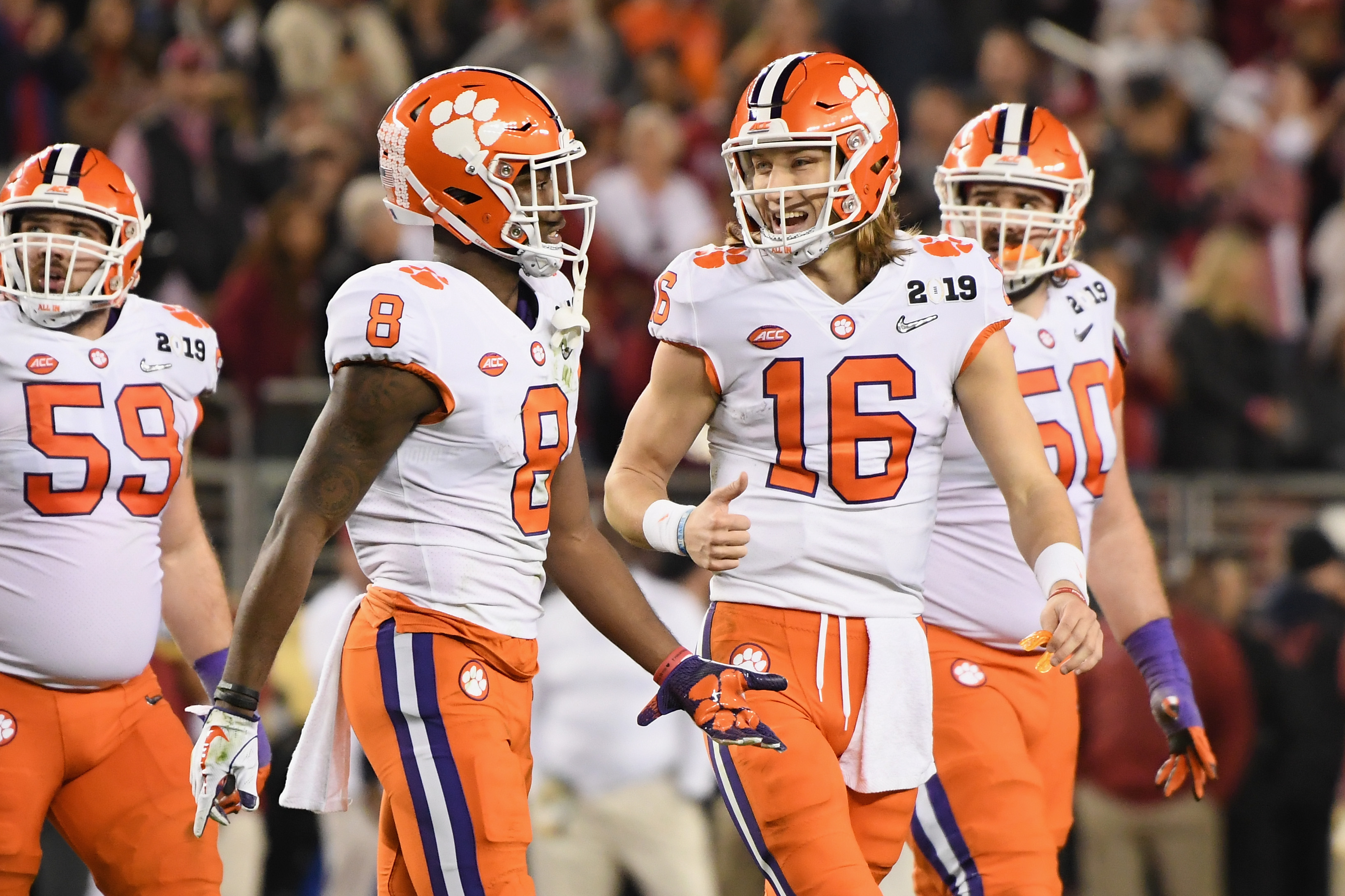 first rate 48544 4a729 Clemson stars Trevor Lawrence and Justyn Ross are 19. That ...